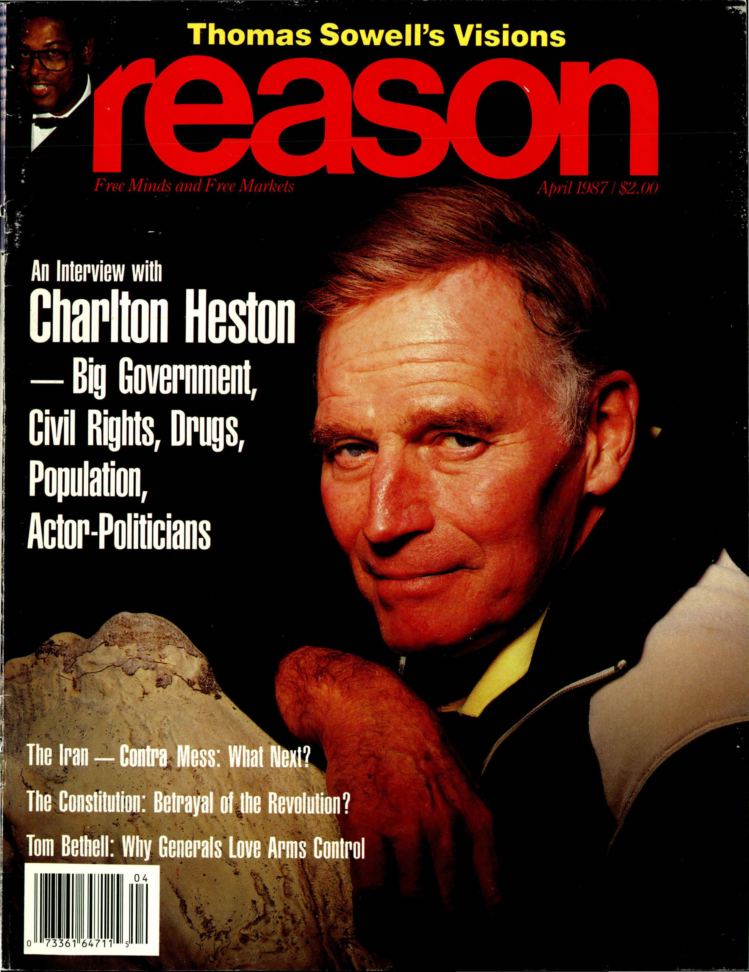 Reason Magazine, April 1987 cover image