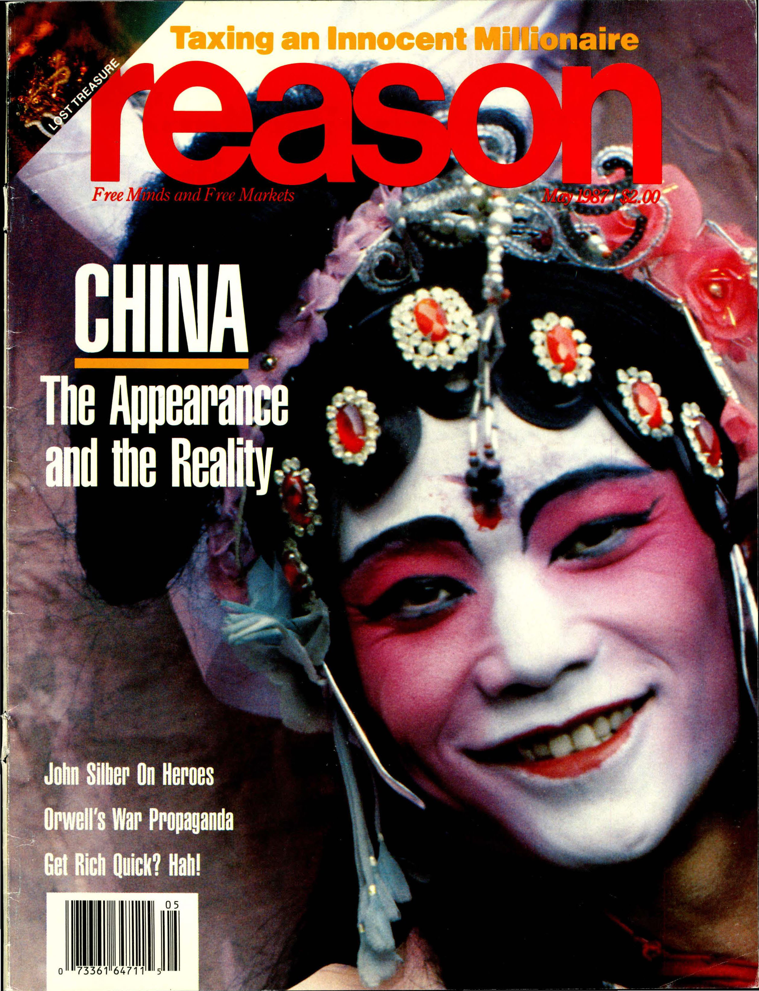 Reason Magazine, May 1987 cover image