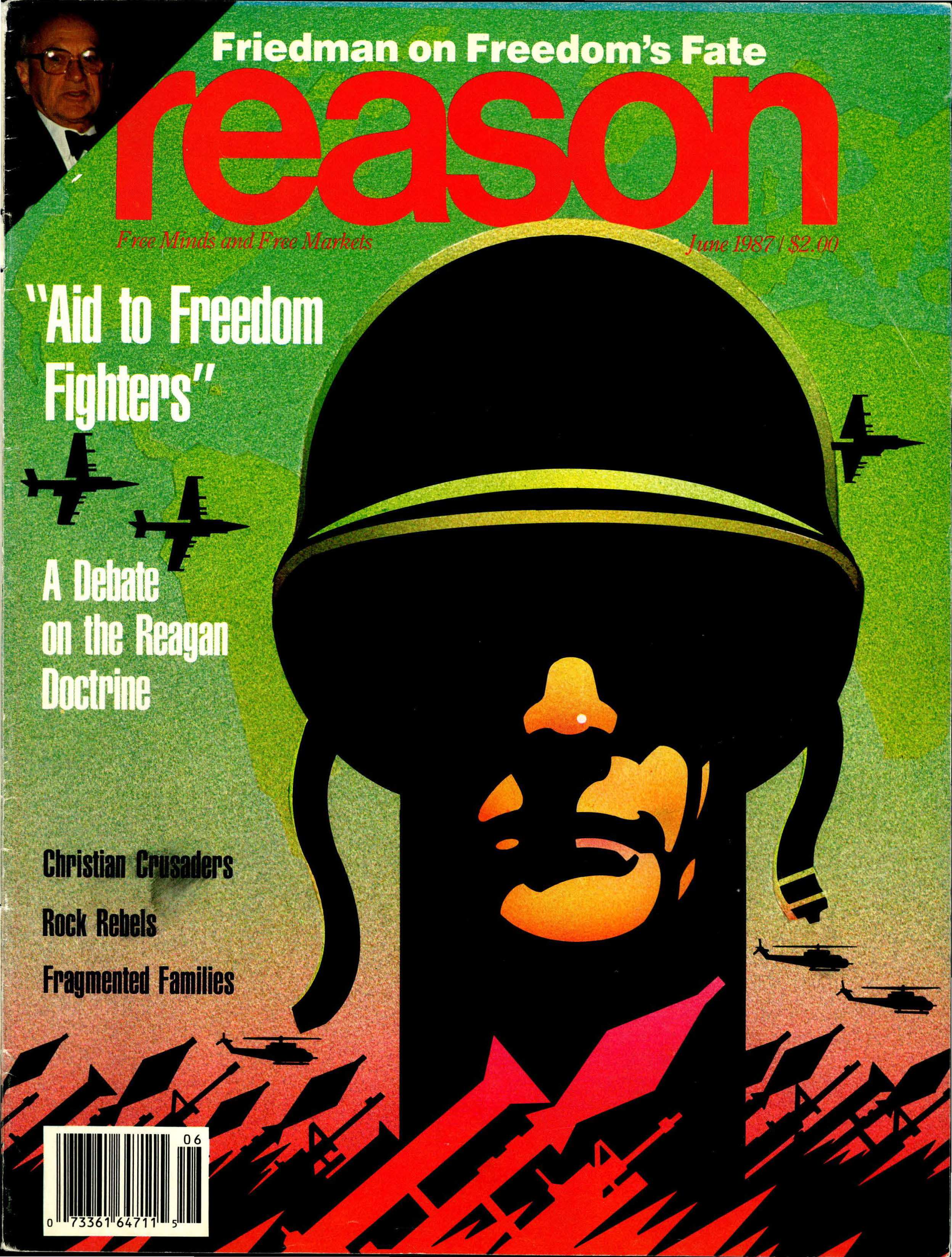 Reason Magazine, June 1987 cover image