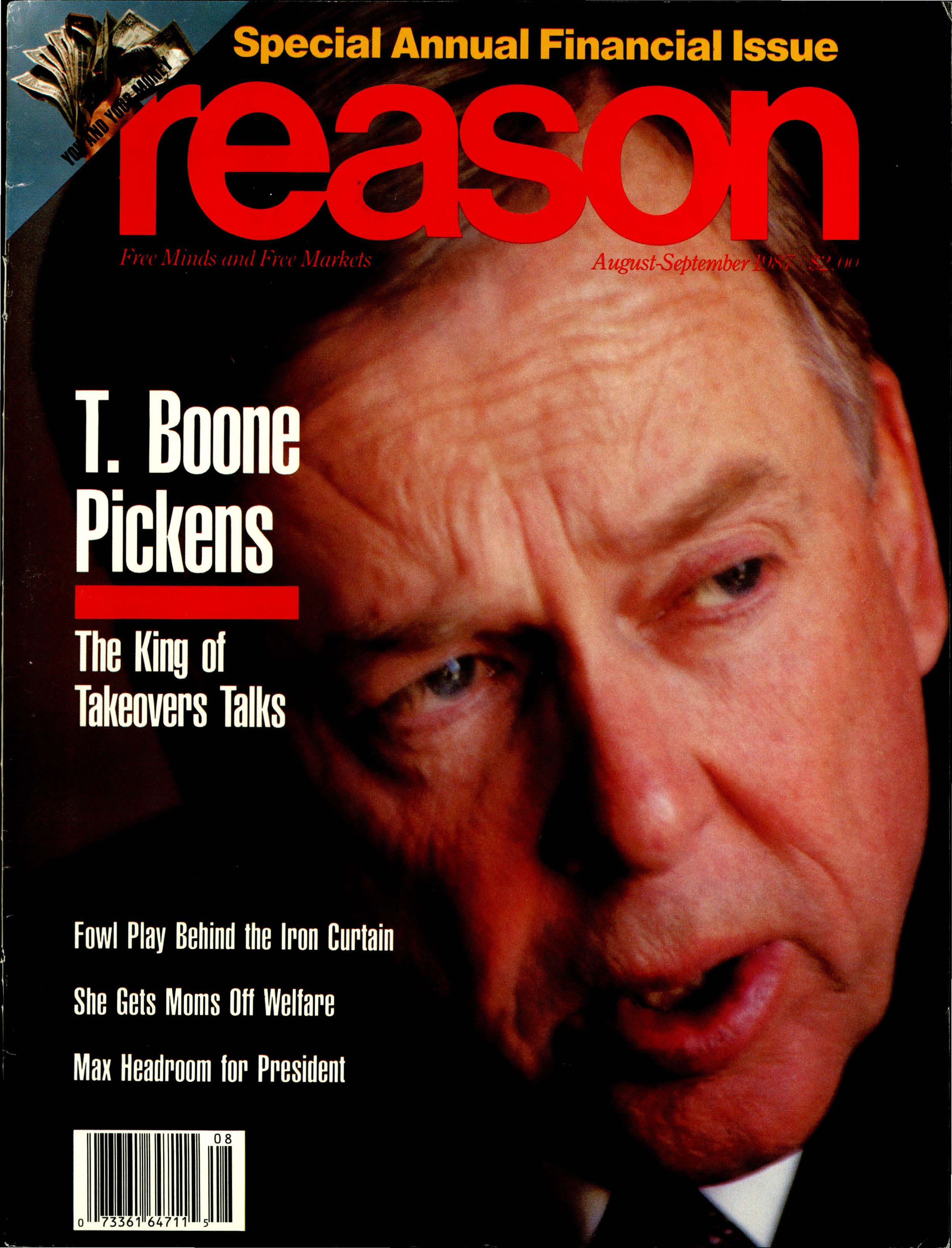 Reason Magazine, August/September 1987 cover image