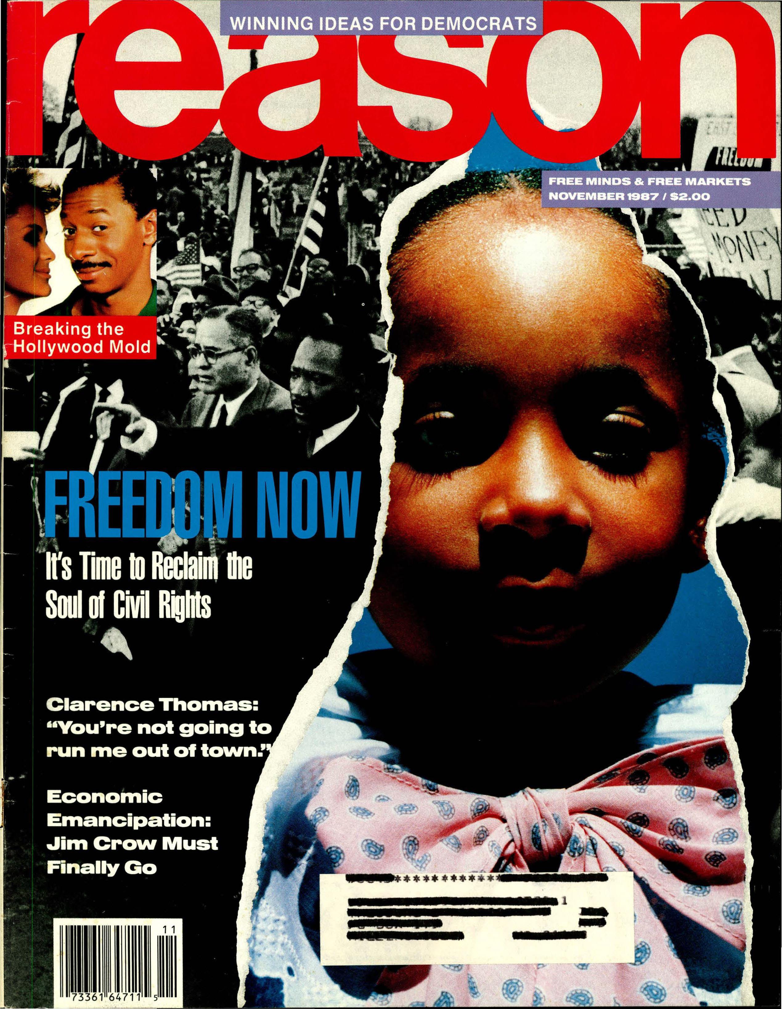 Reason Magazine, November 1987 cover image