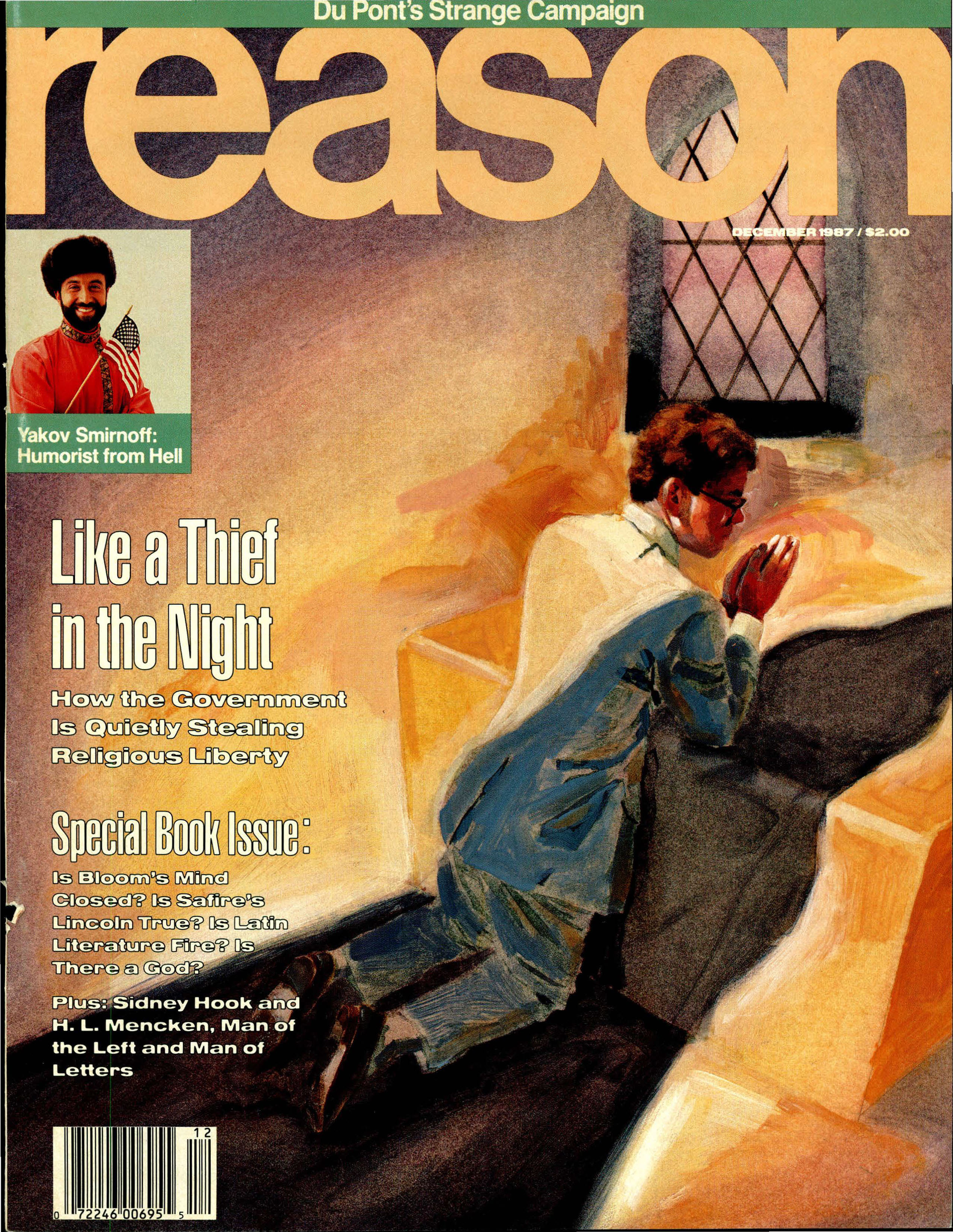 Reason Magazine, December 1987 cover image