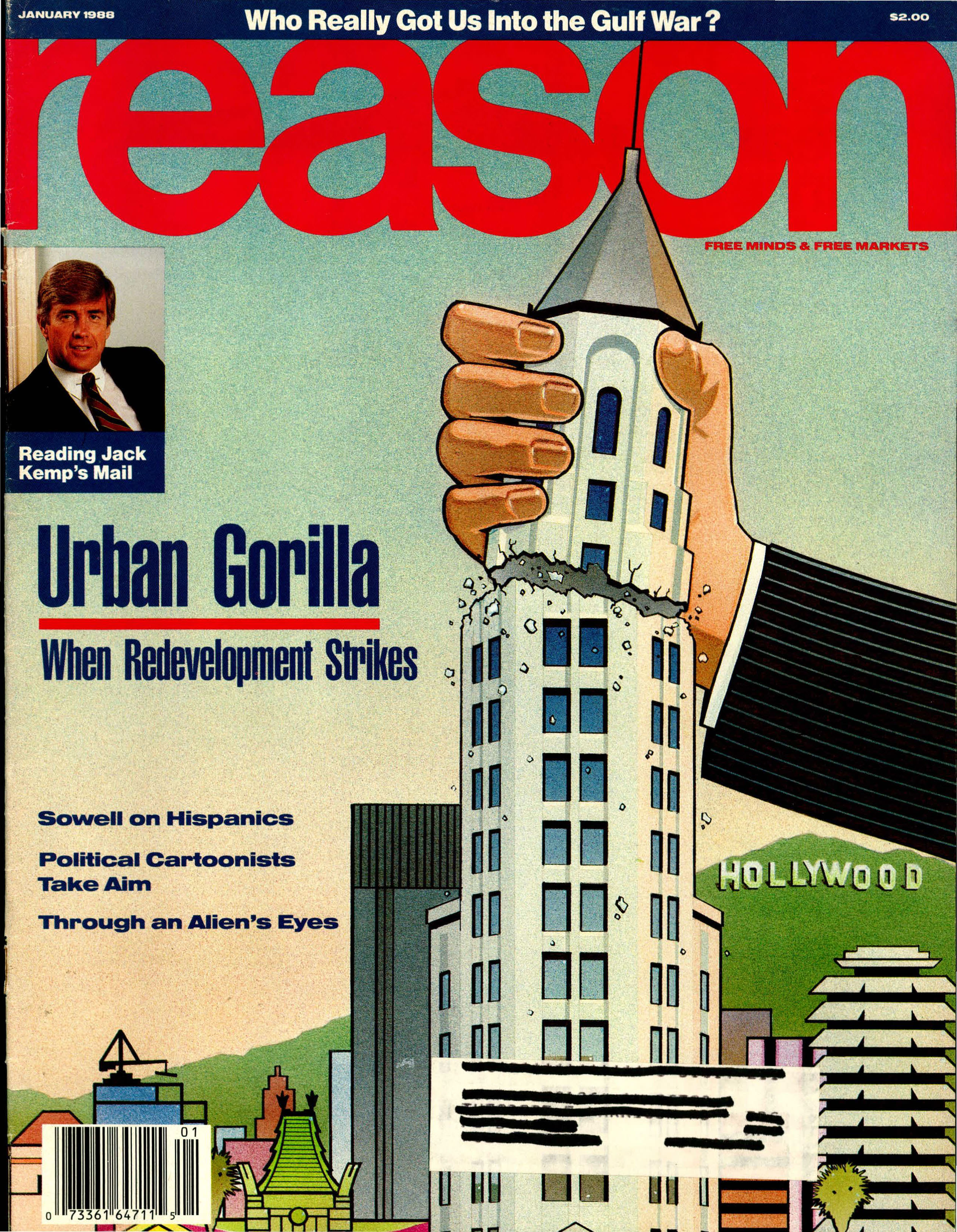Reason Magazine, January 1988 cover image