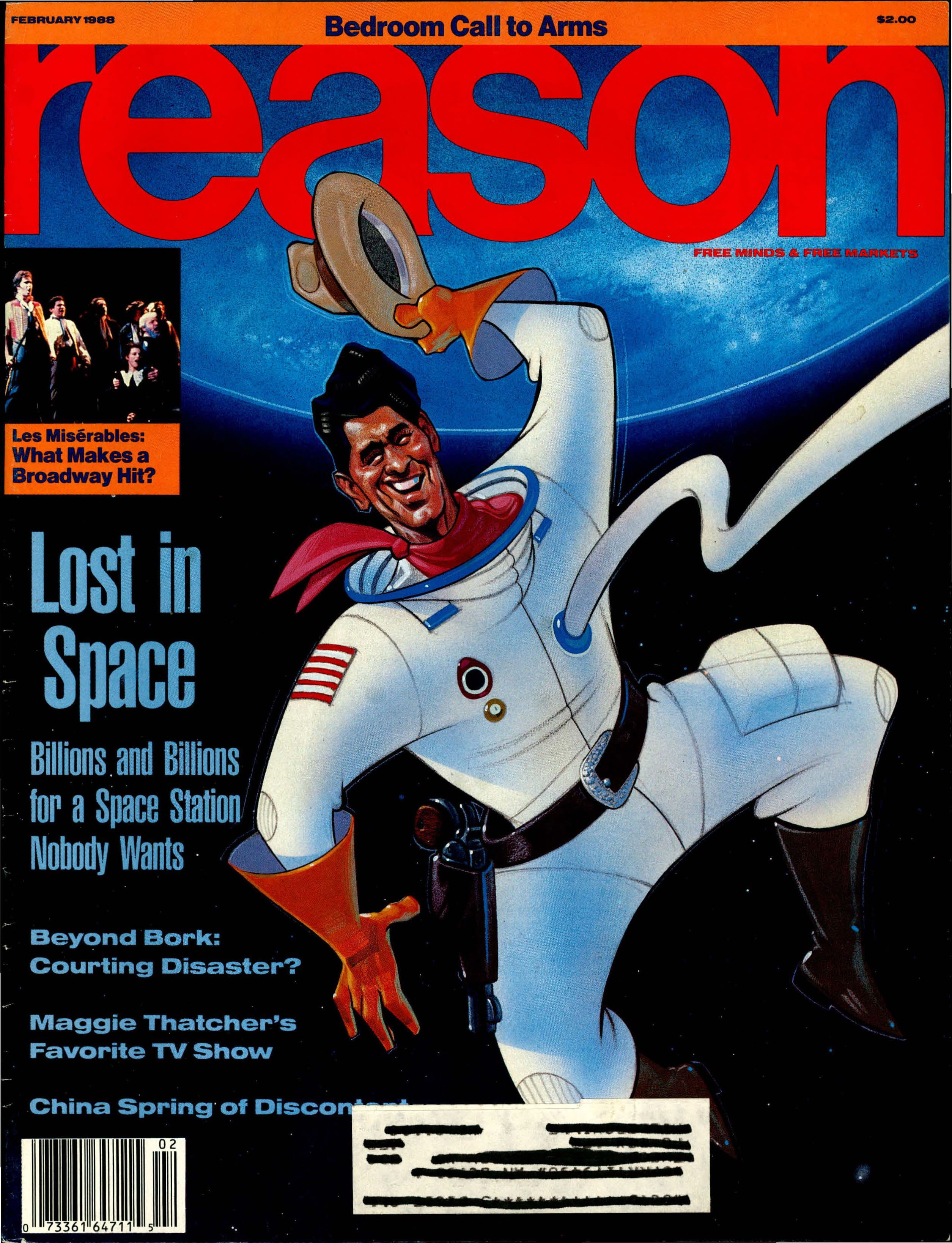 Reason Magazine, February 1988 cover image