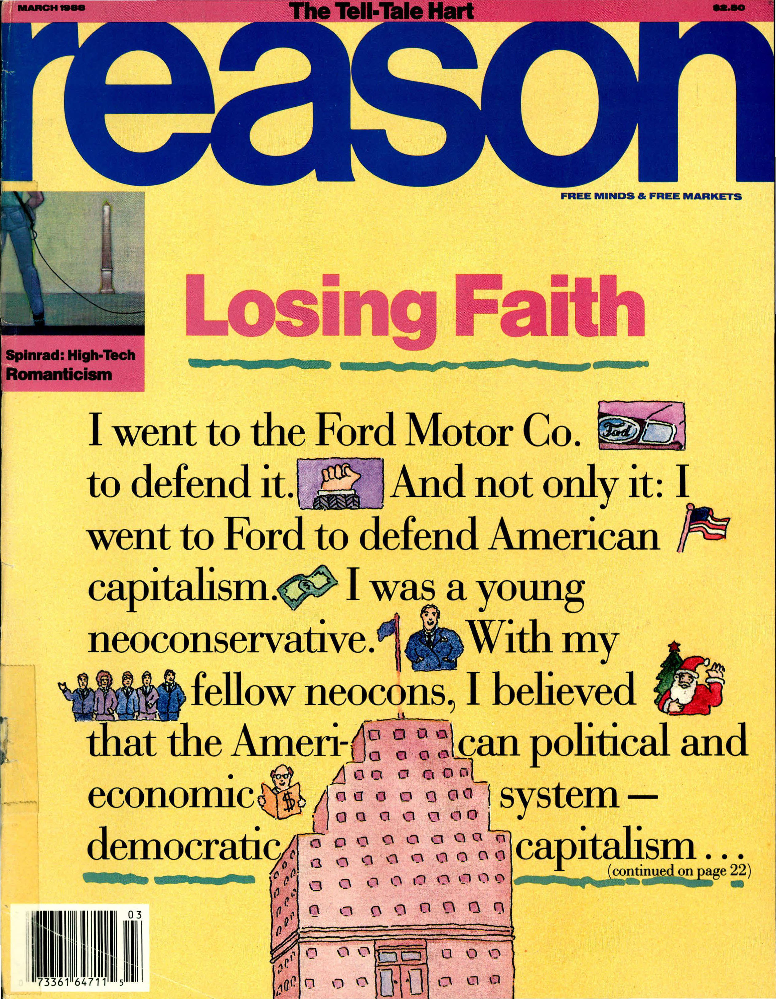 Reason Magazine, March 1988 cover image
