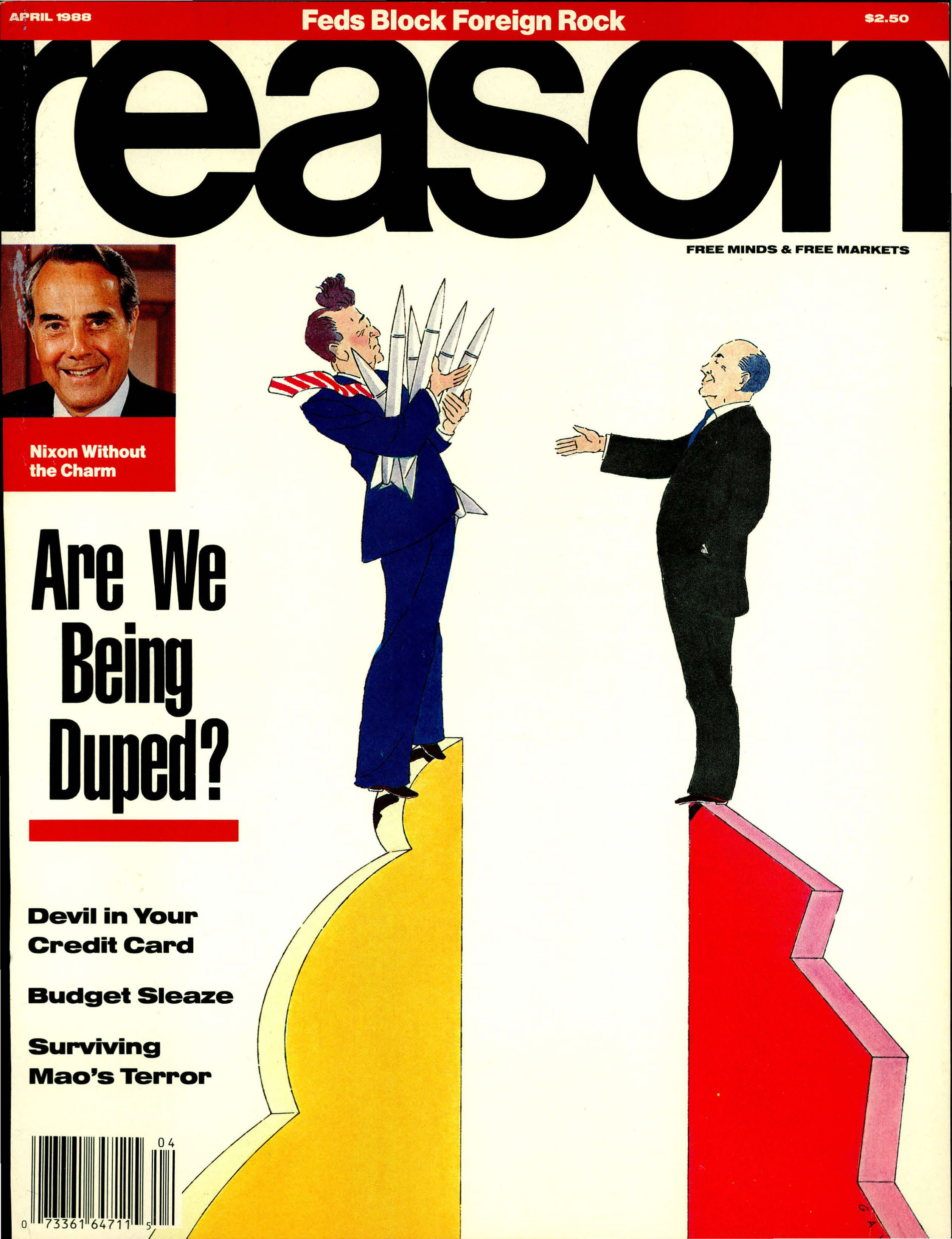 Reason Magazine, April 1988 cover image