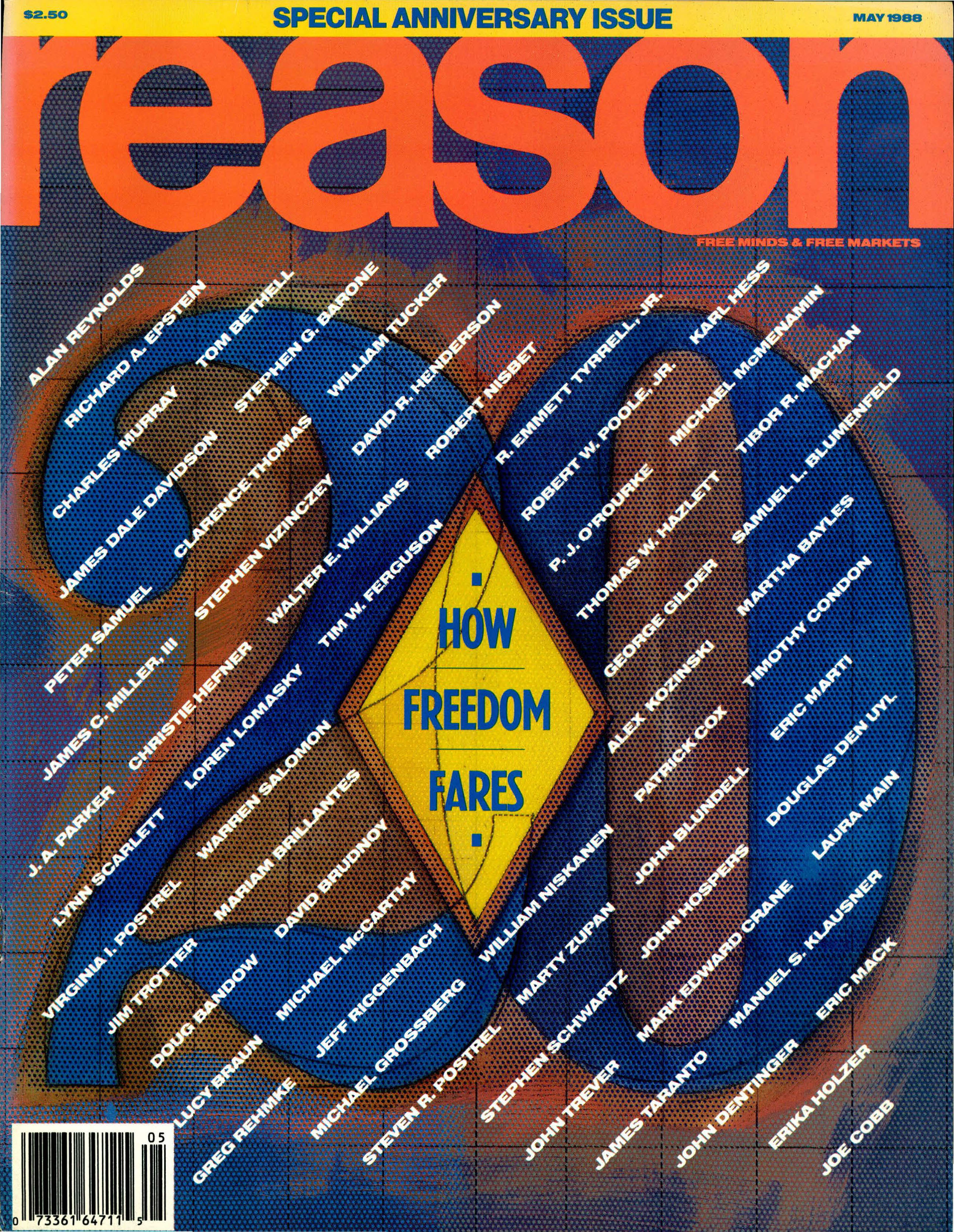 Reason Magazine, May 1988 cover image