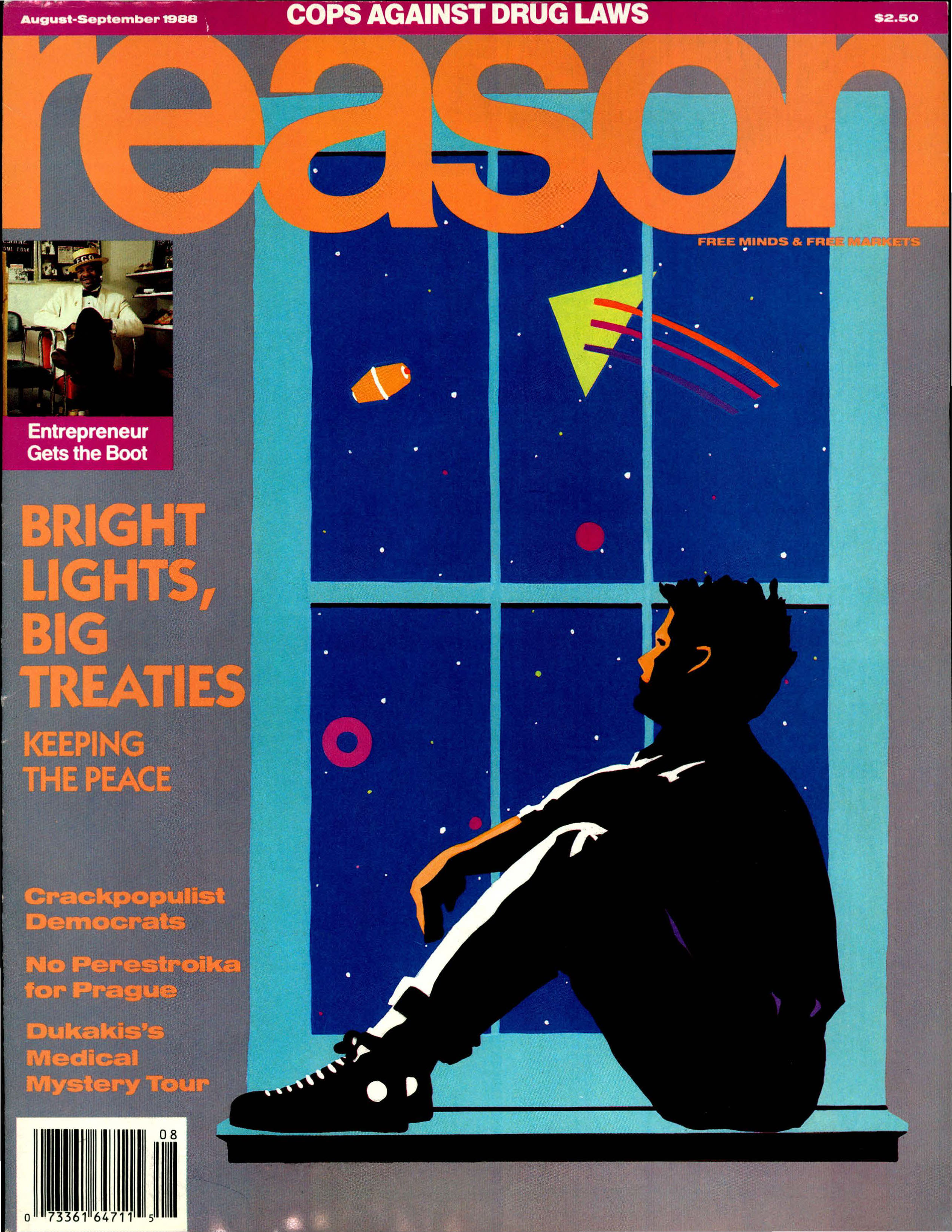 Reason Magazine, August/September 1988 cover image