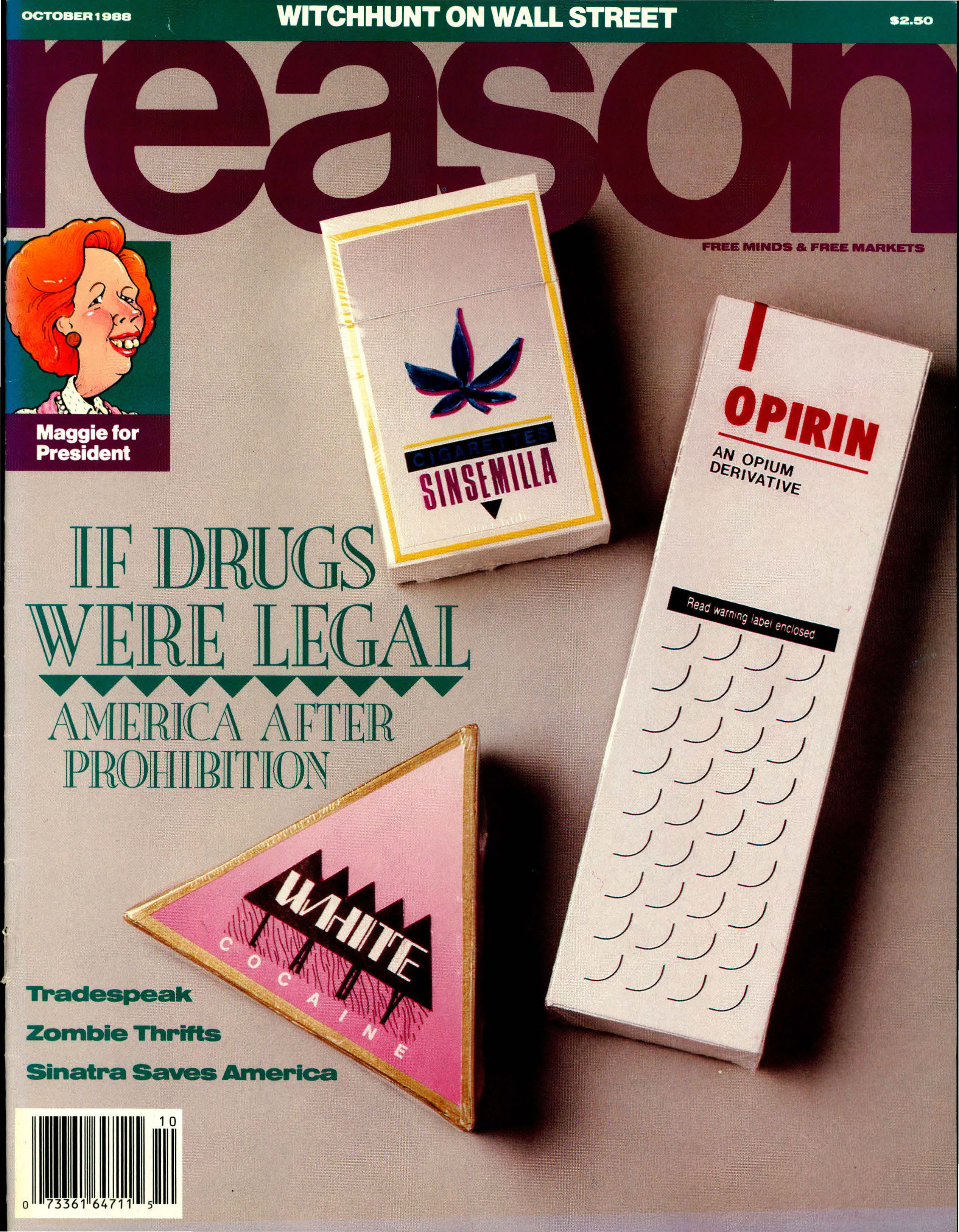 Reason Magazine, October 1988 cover image