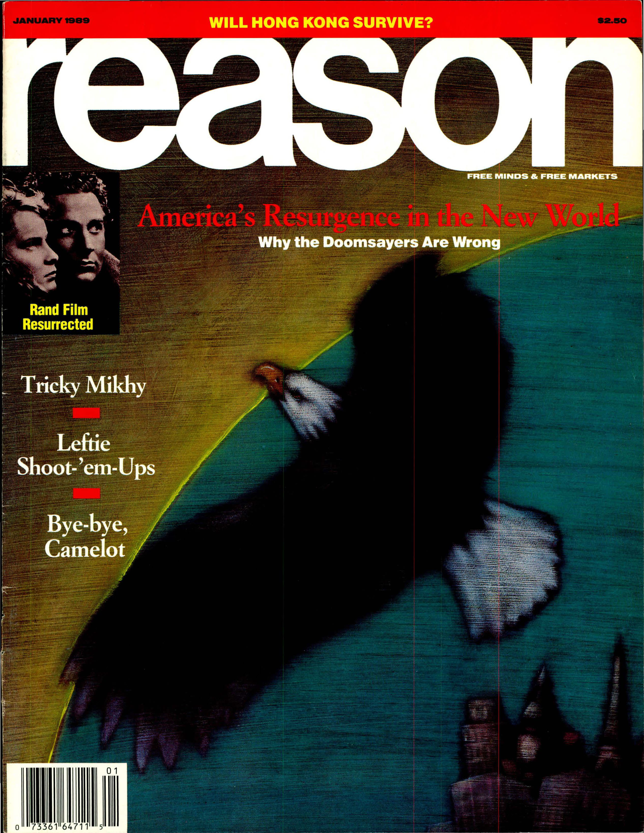 Reason Magazine, January 1989 cover image