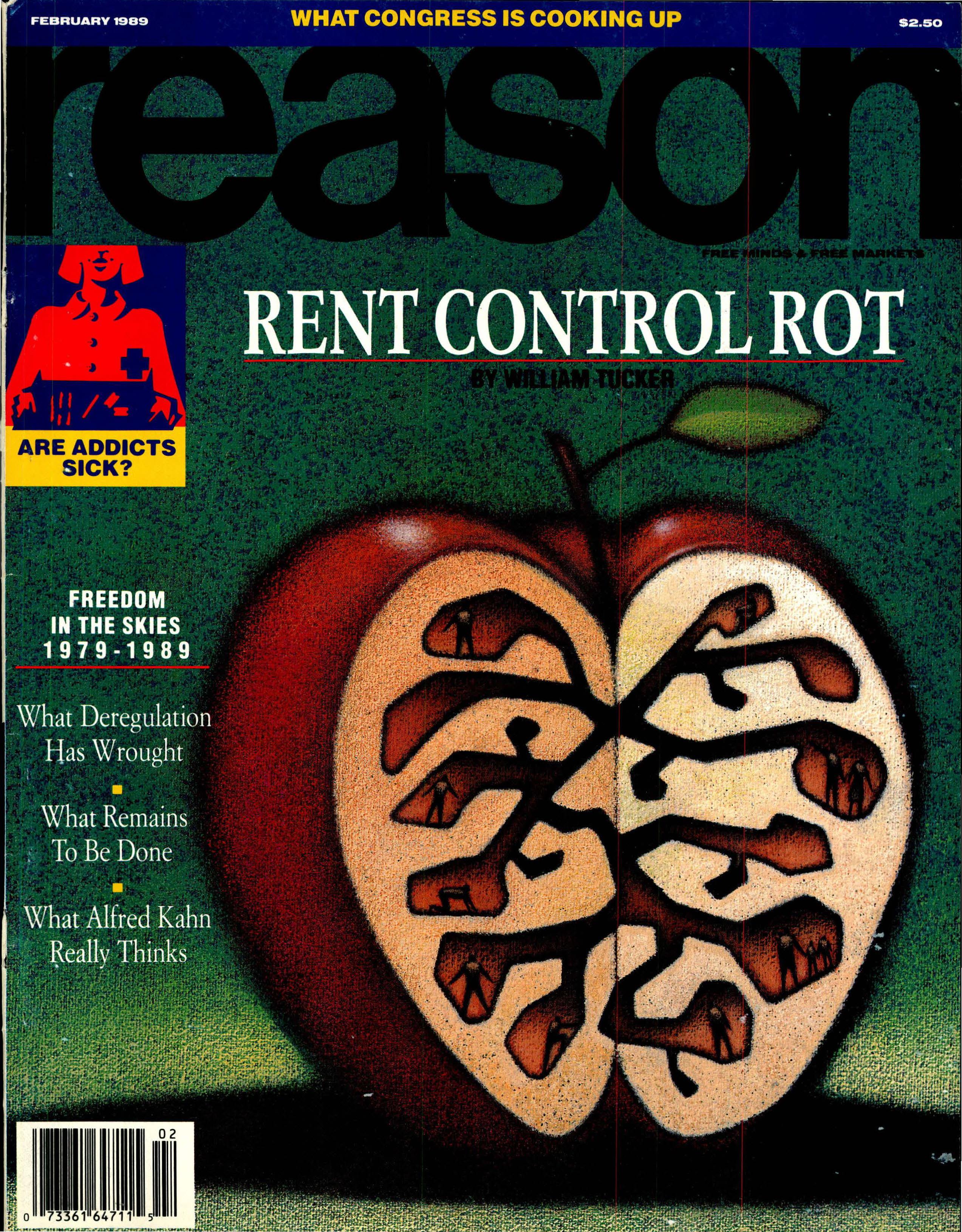 Reason Magazine, February 1989 cover image