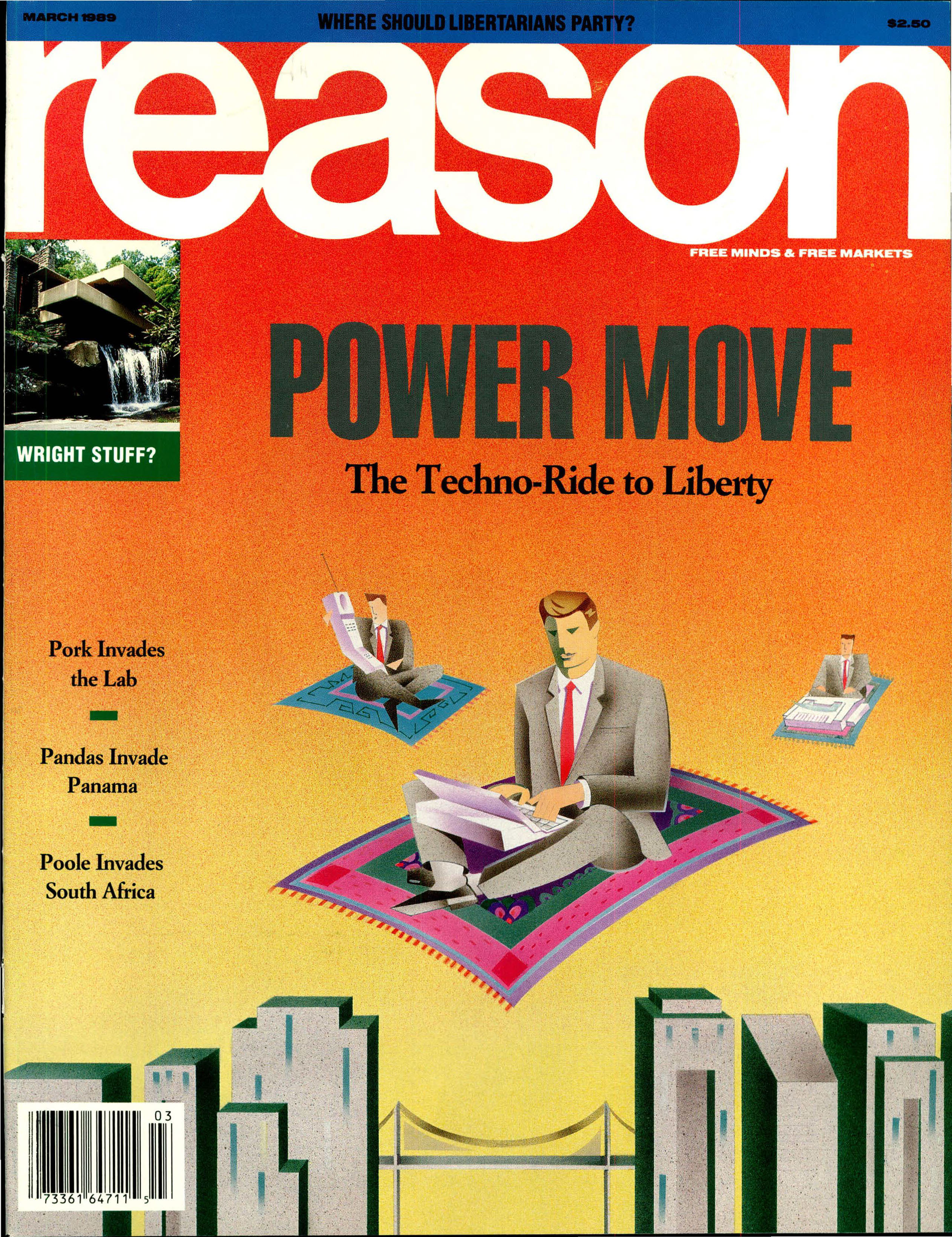 Reason Magazine, March 1989 cover image
