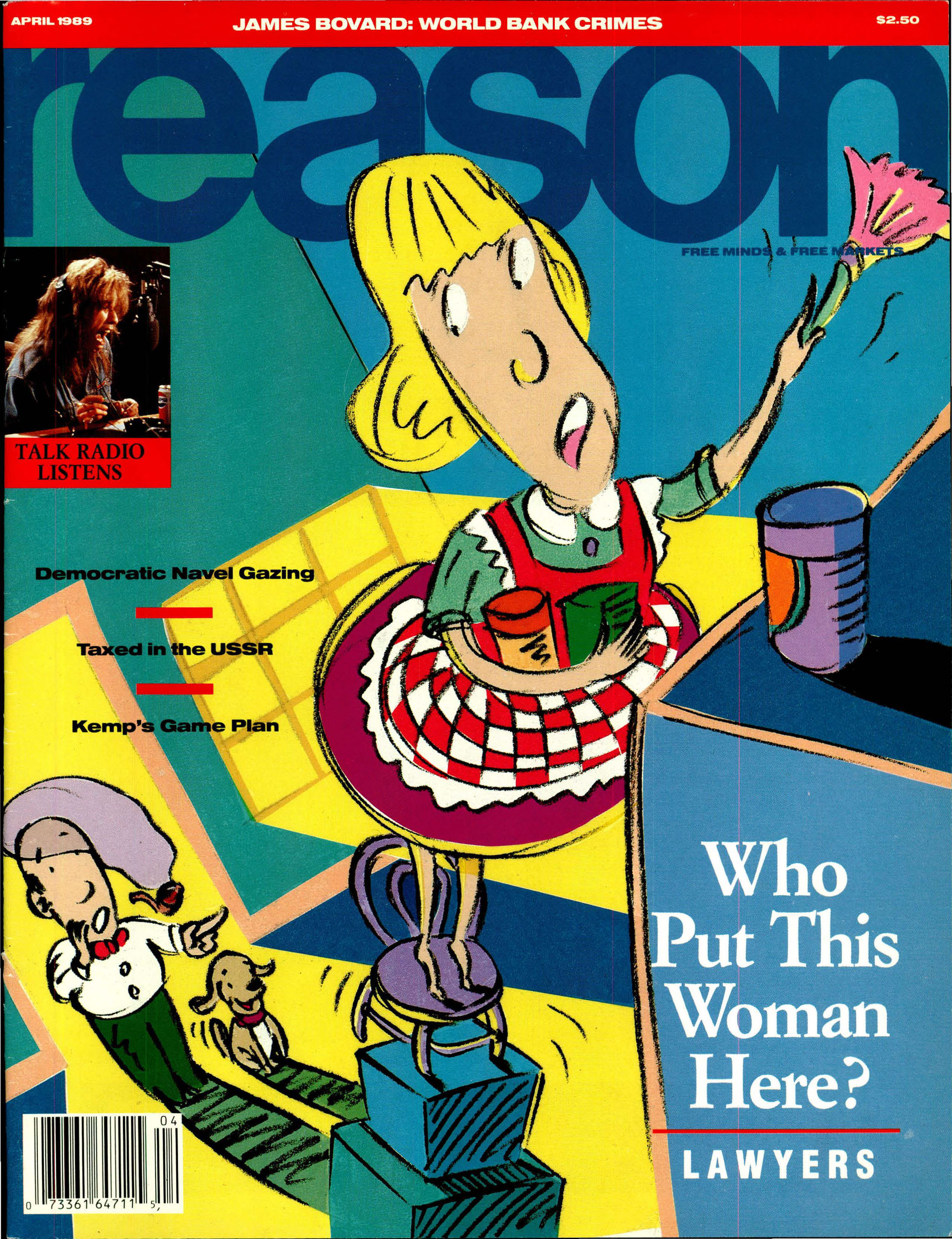 Reason Magazine, April 1989 cover image