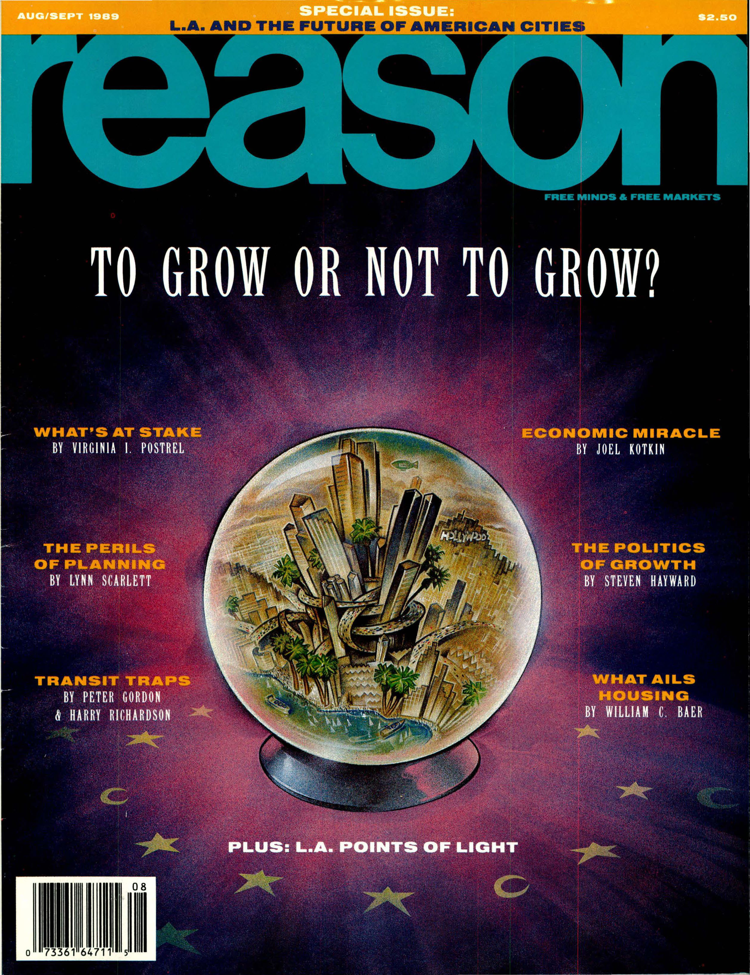 Reason Magazine, August/September 1989 cover image