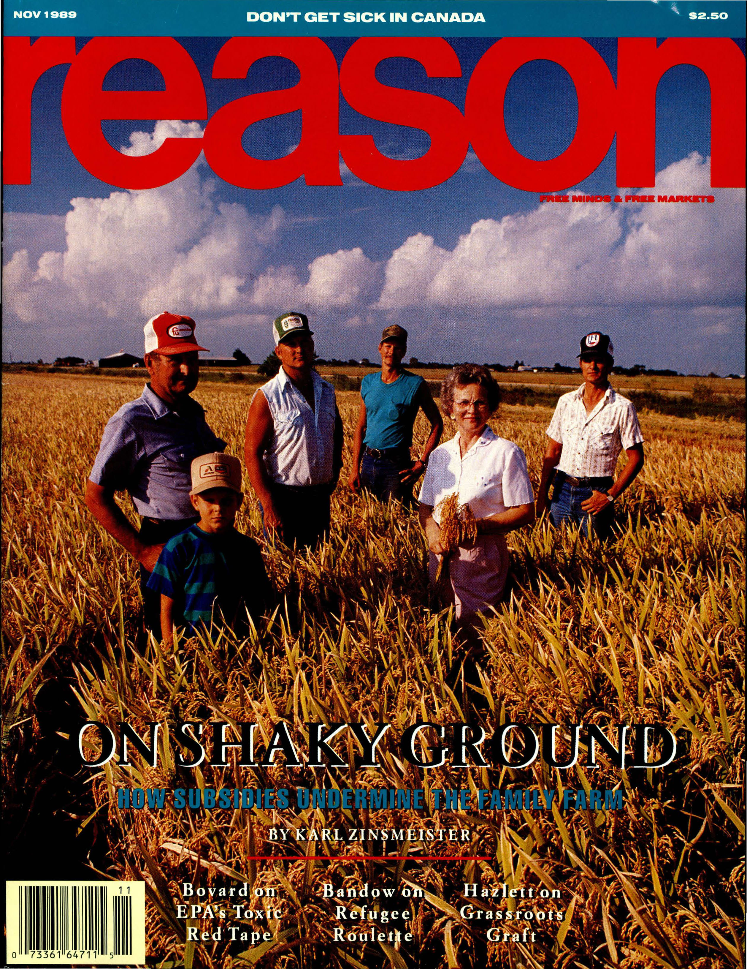Reason Magazine, November 1989 cover image