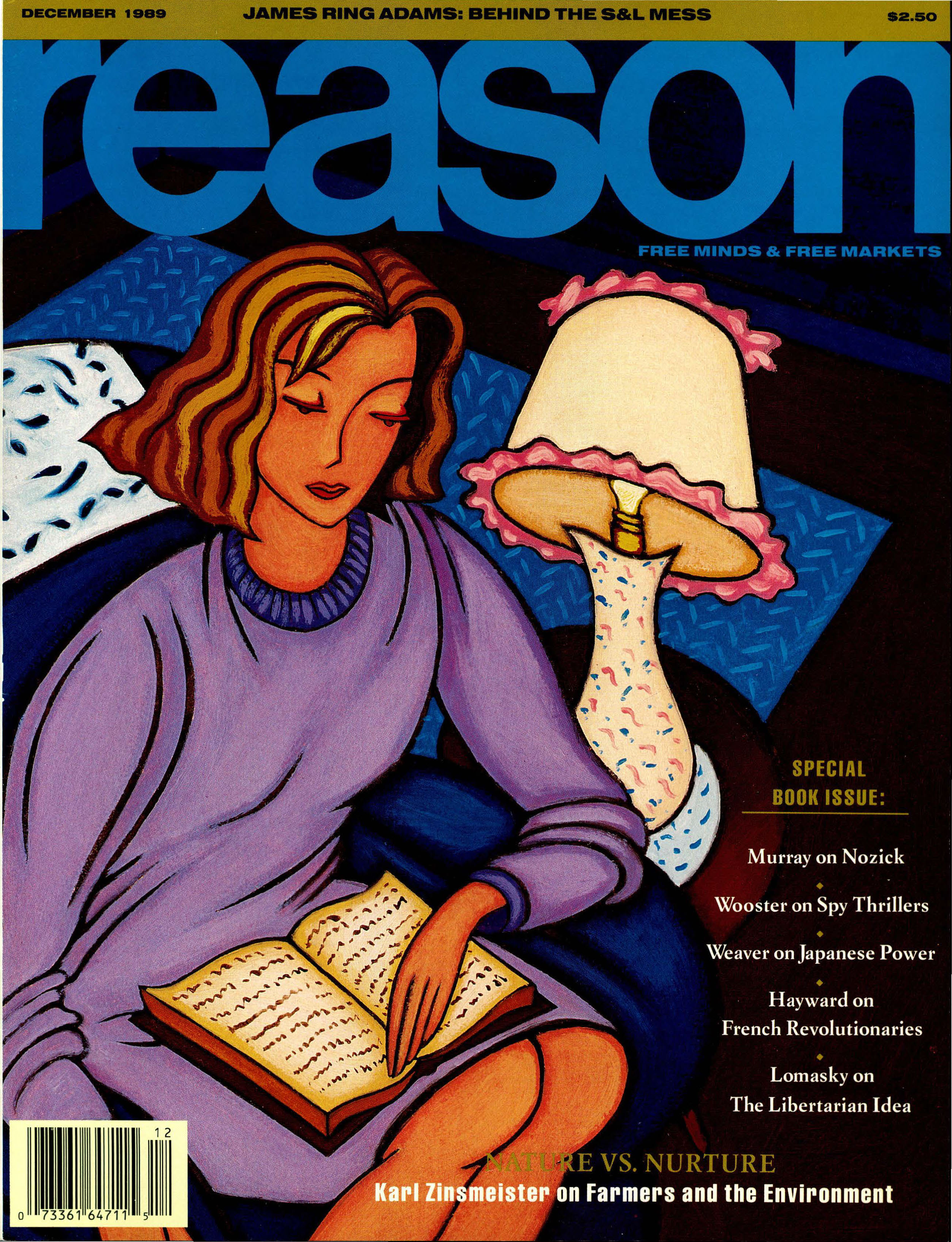 Reason Magazine, December 1989 cover image