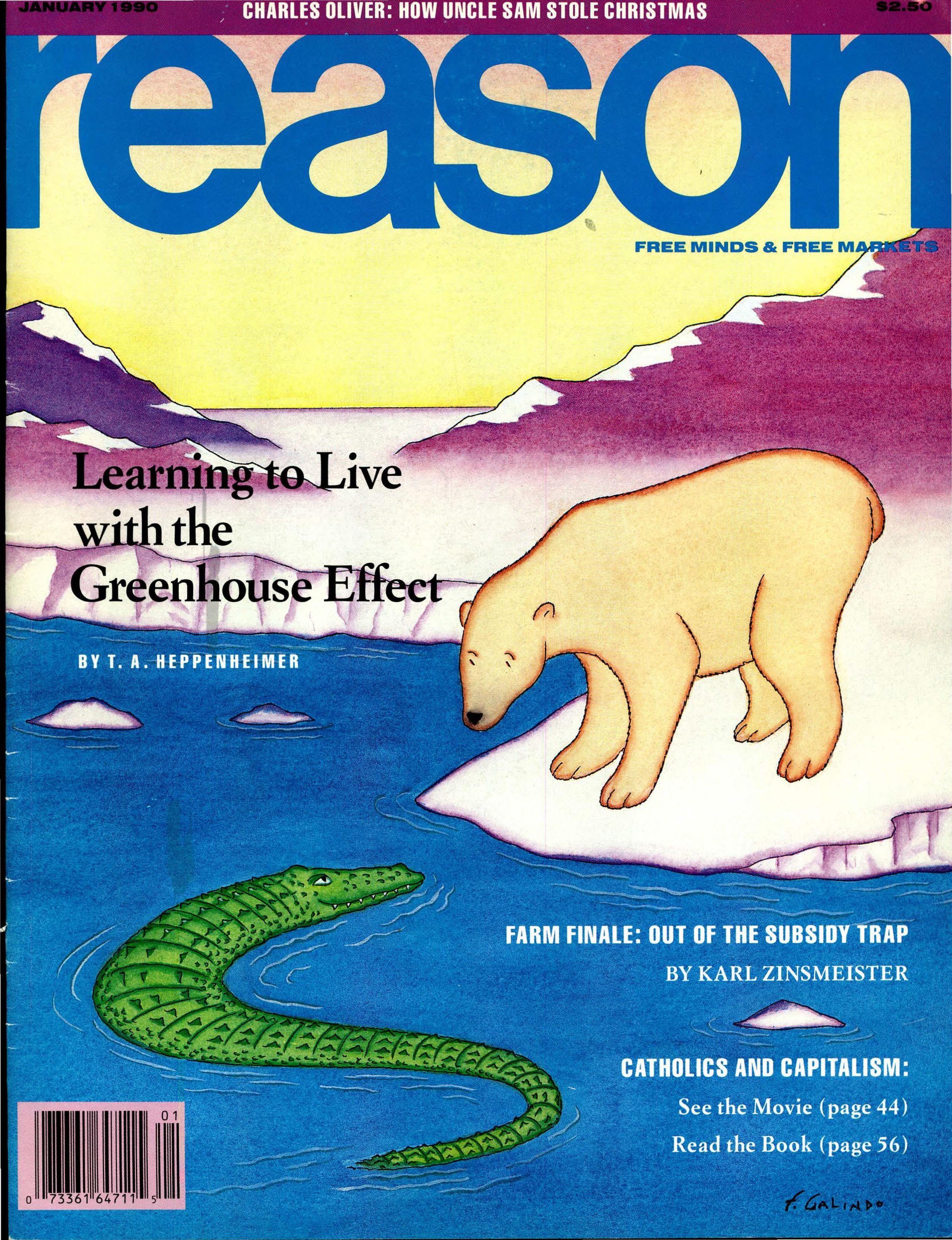 Reason Magazine, January 1990 cover image