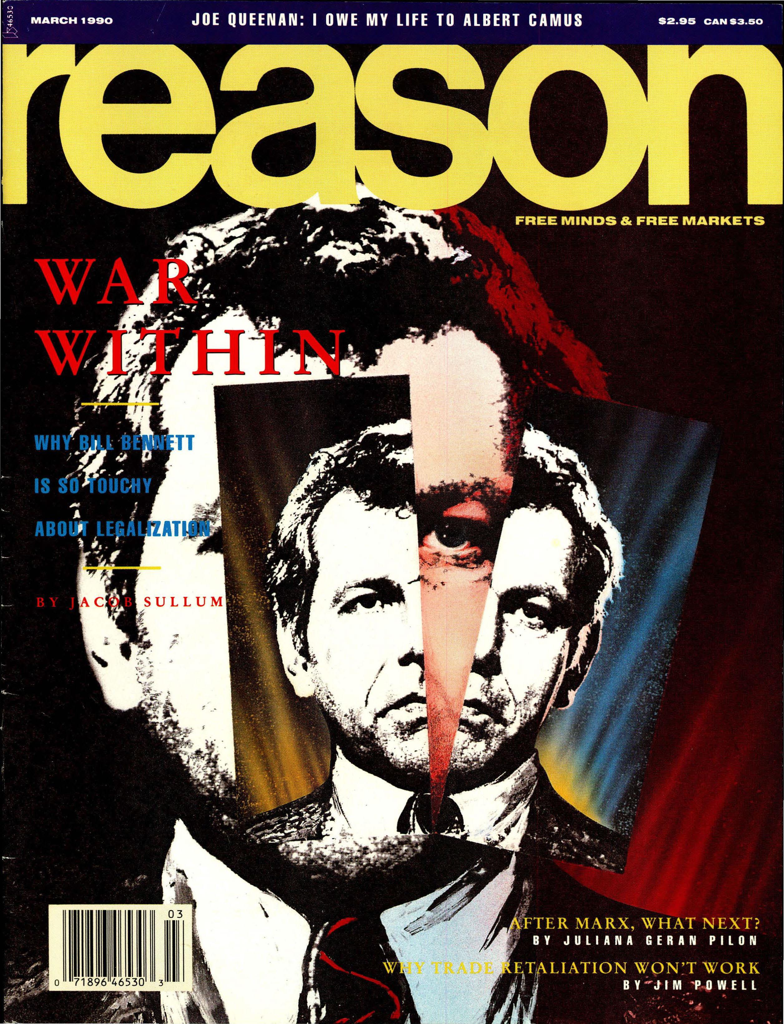 Reason Magazine, March 1990 cover image