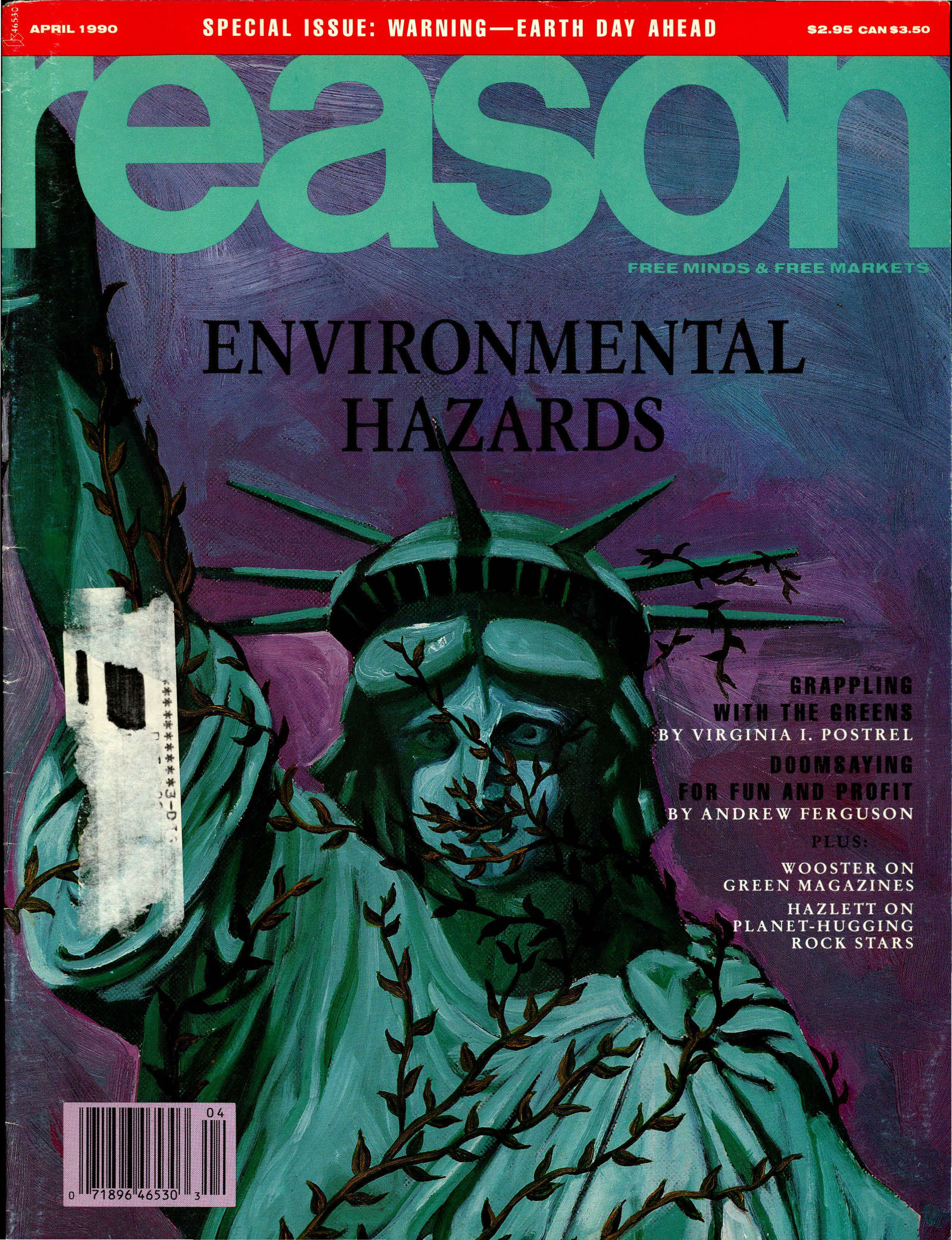 Reason Magazine, April 1990 cover image