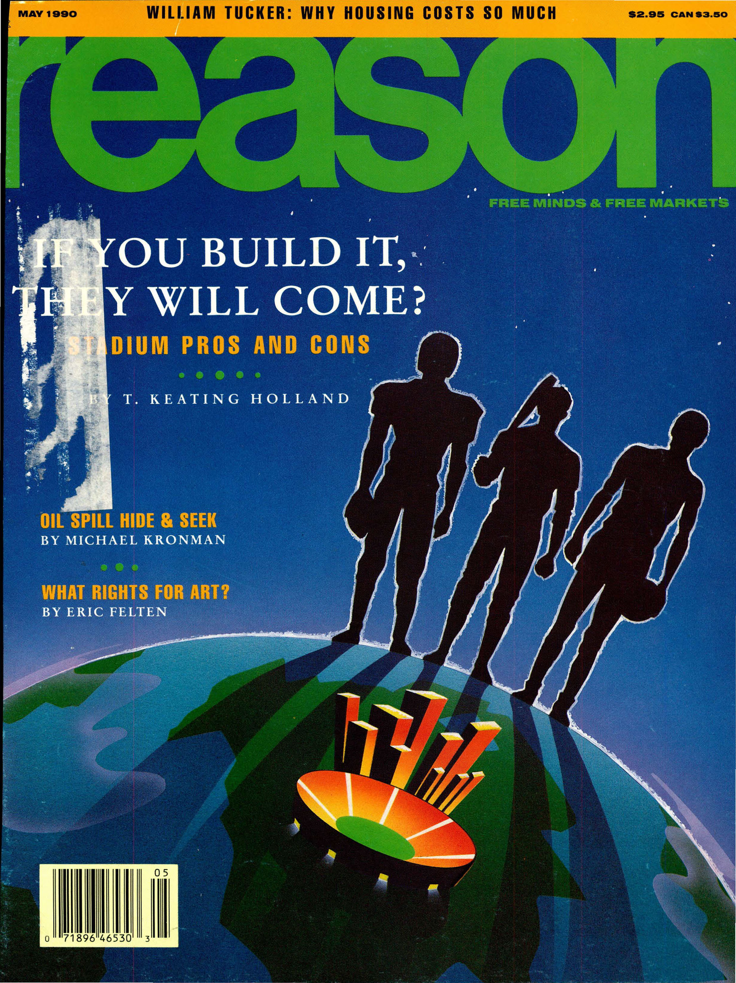Reason Magazine, May 1990 cover image