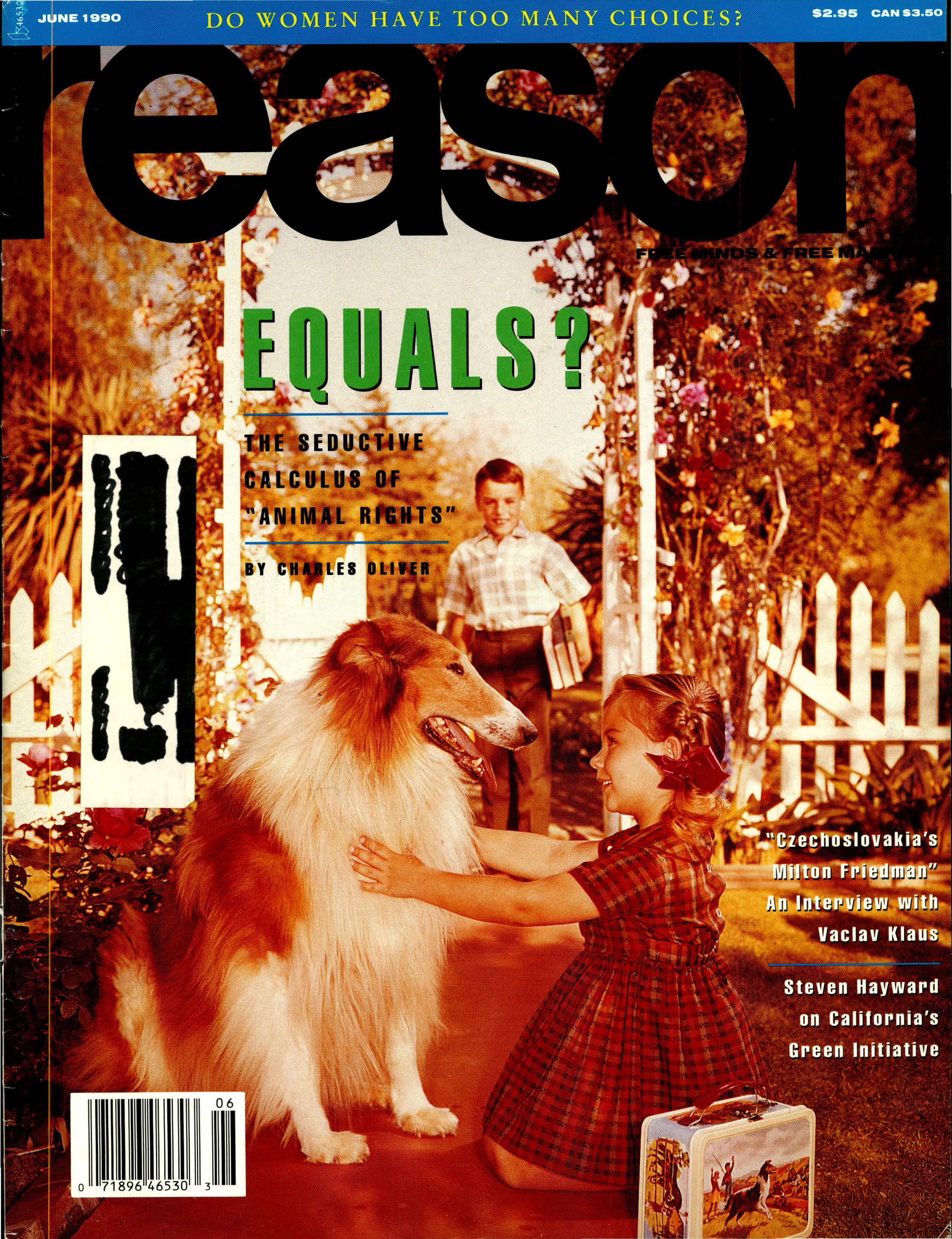 Reason Magazine, June 1990 cover image