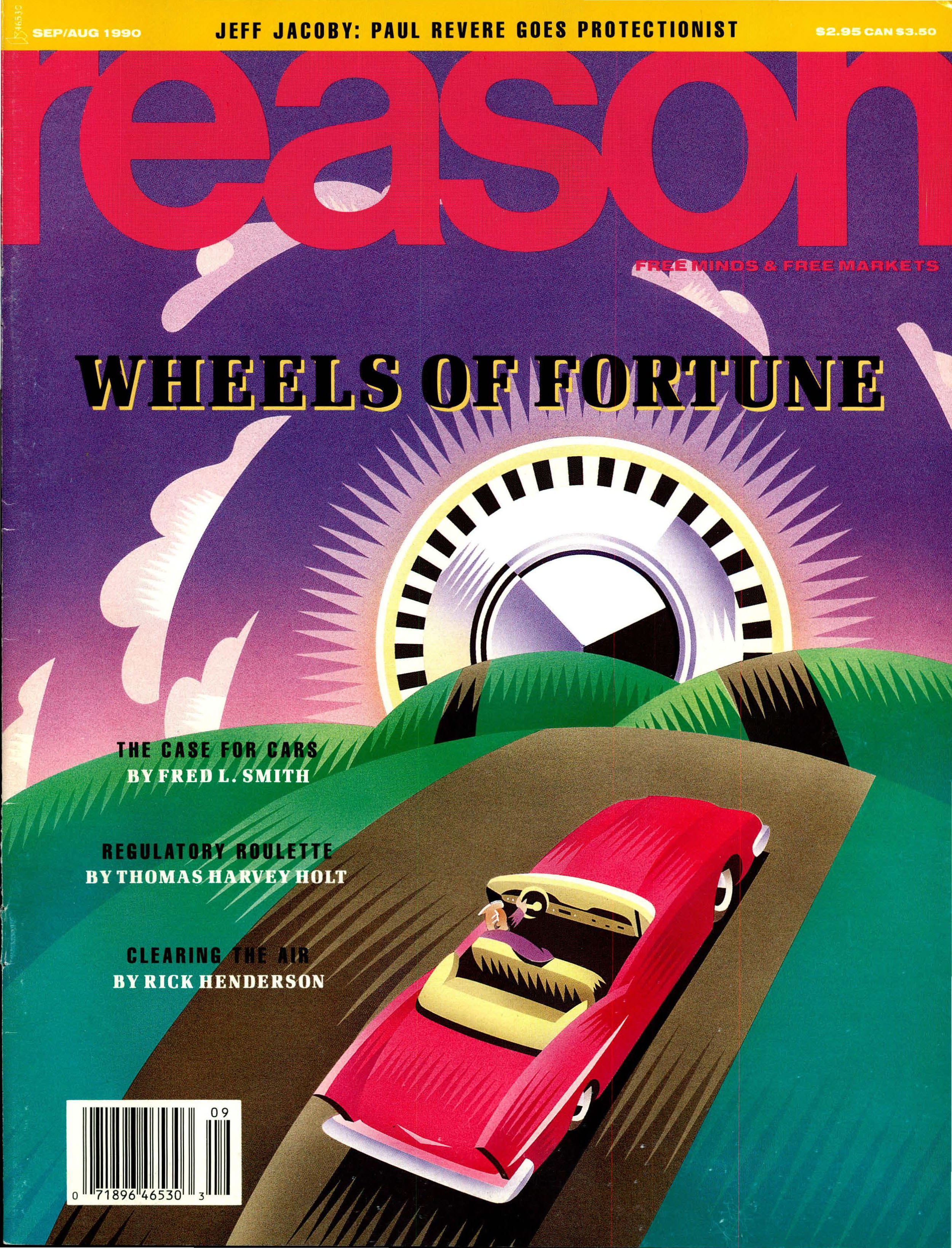 Reason Magazine, August/September 1990 cover image