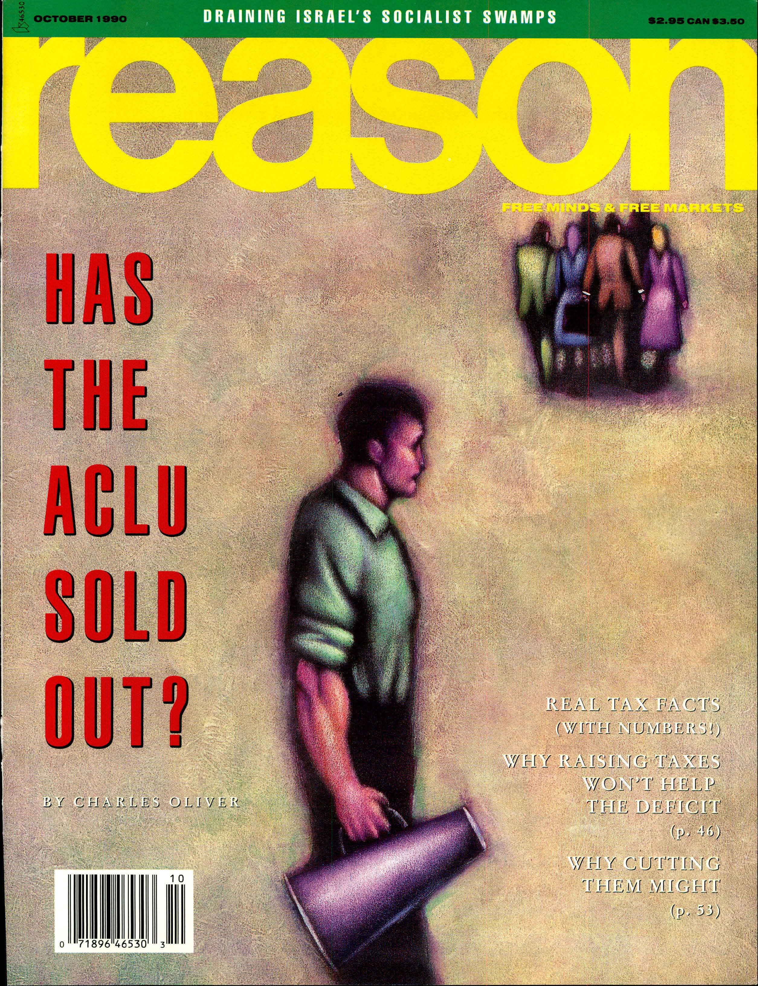 Reason Magazine, October 1990 cover image