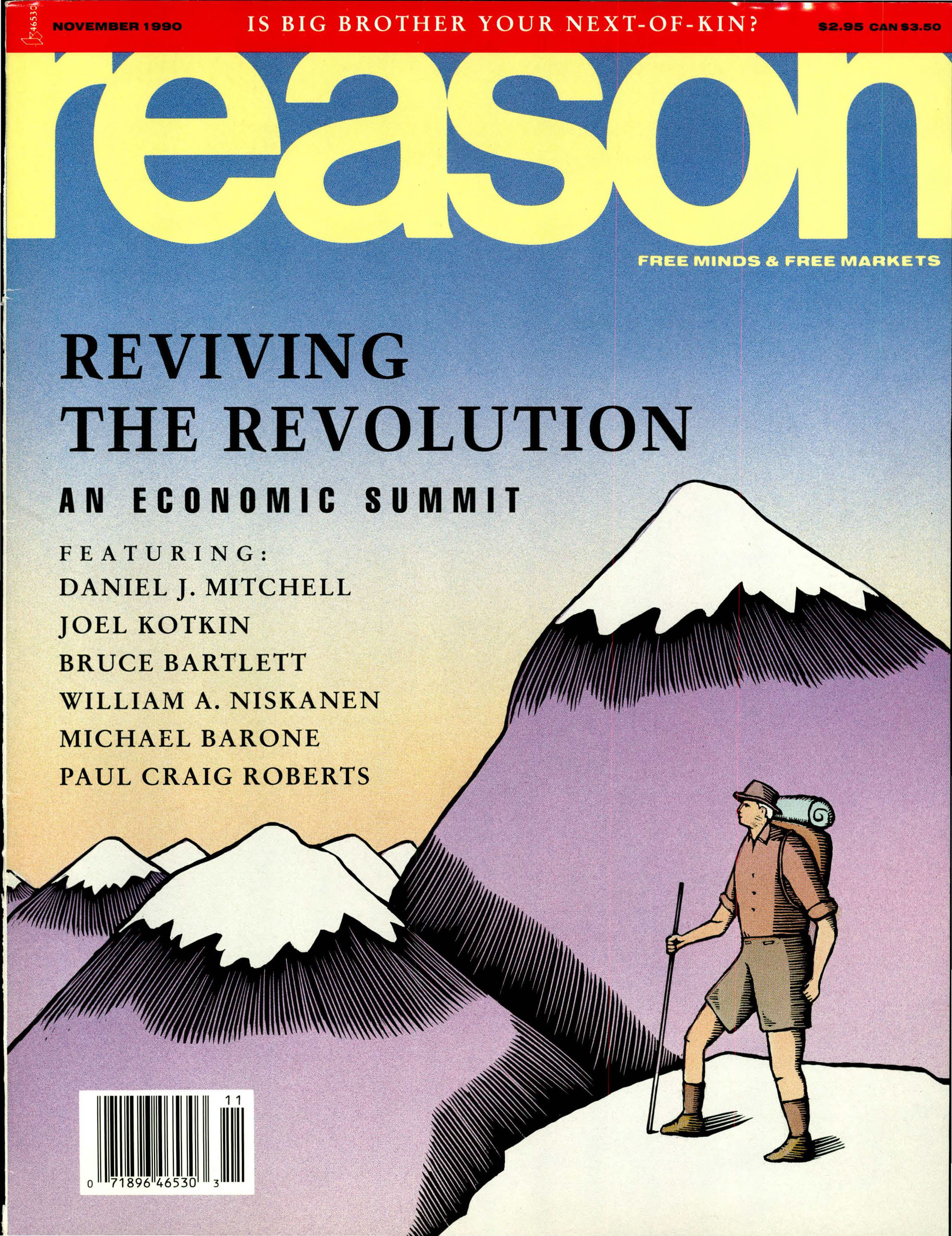 Reason Magazine, November 1990 cover image