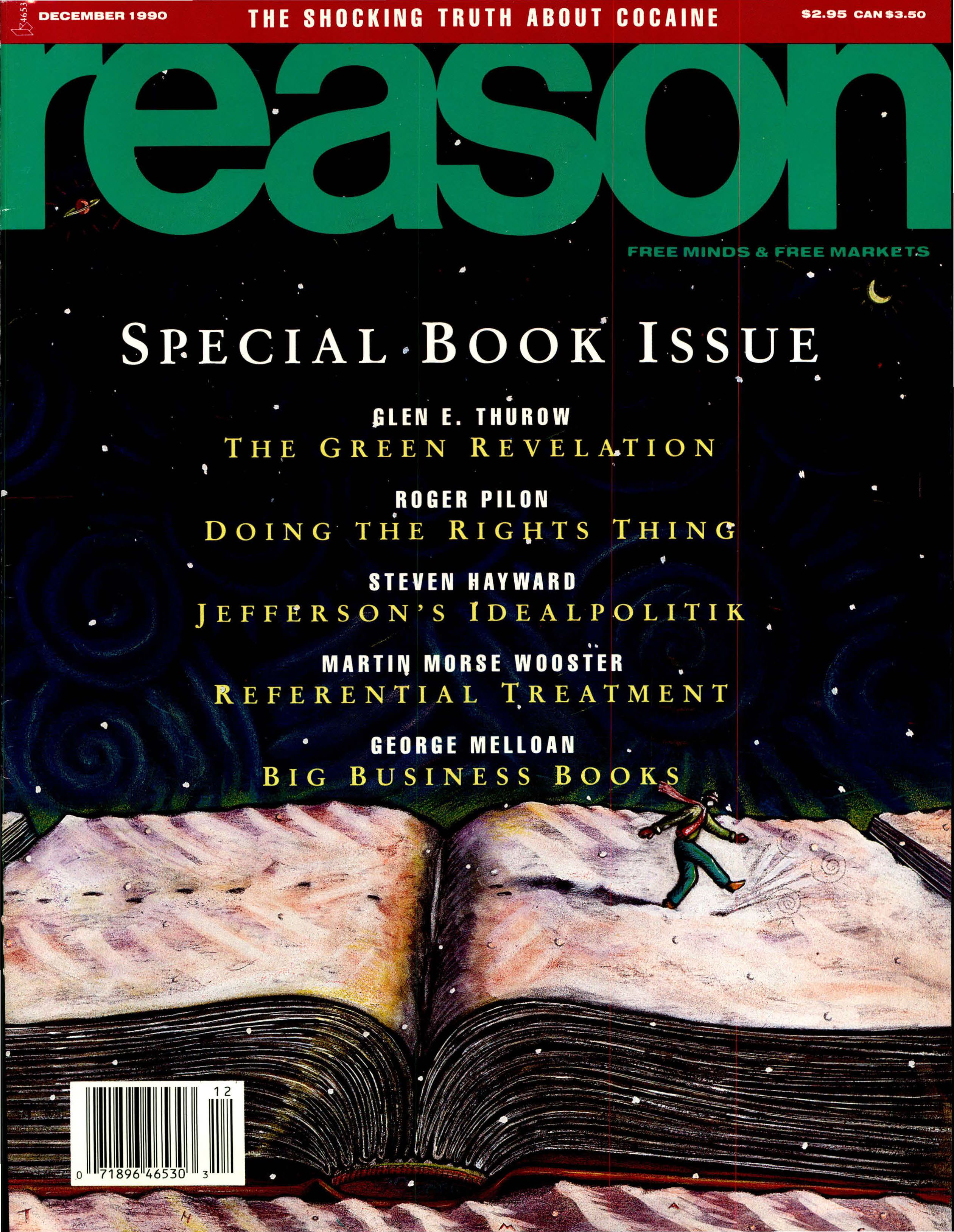 Reason Magazine, December 1990 cover image