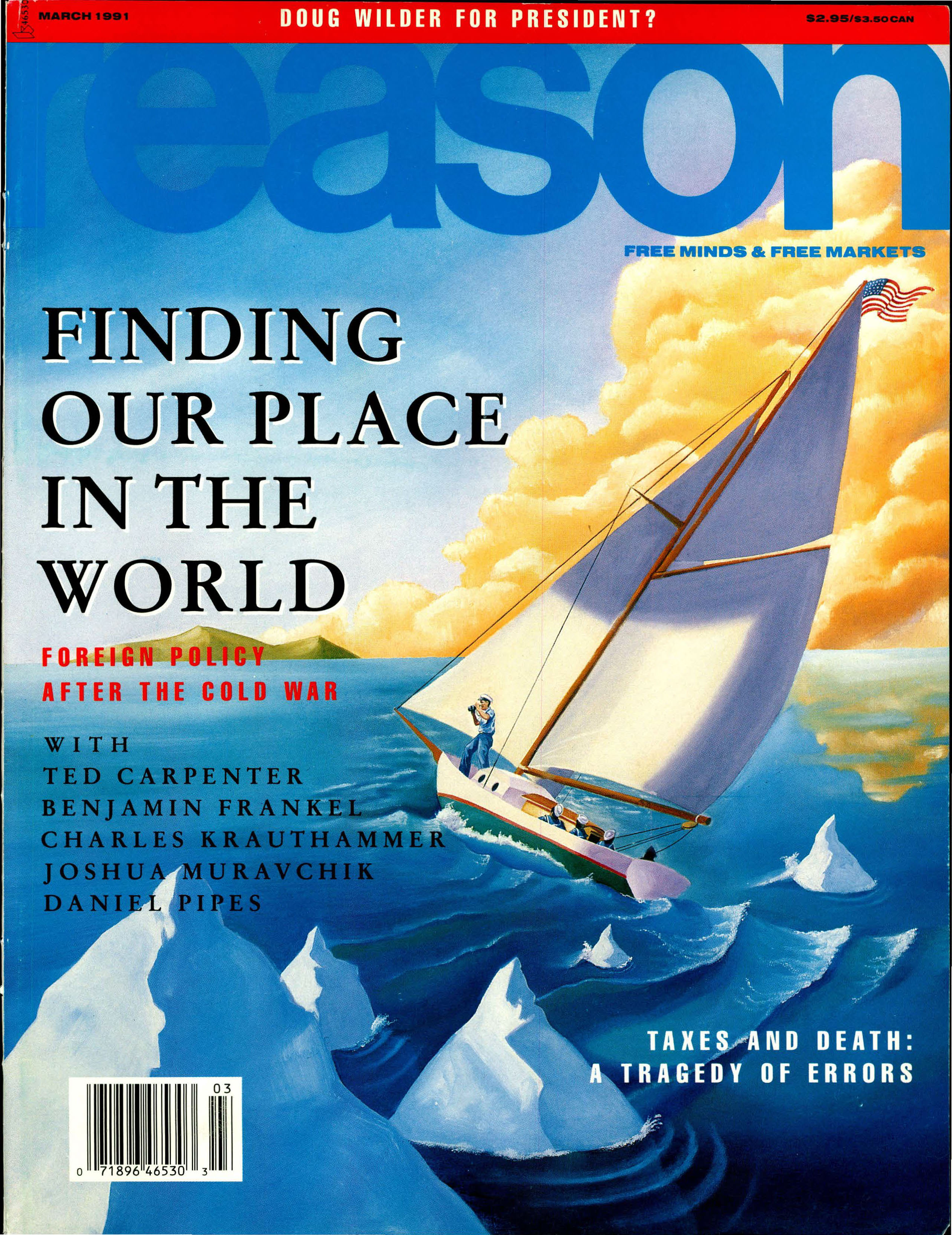 Reason Magazine, March 1991 cover image