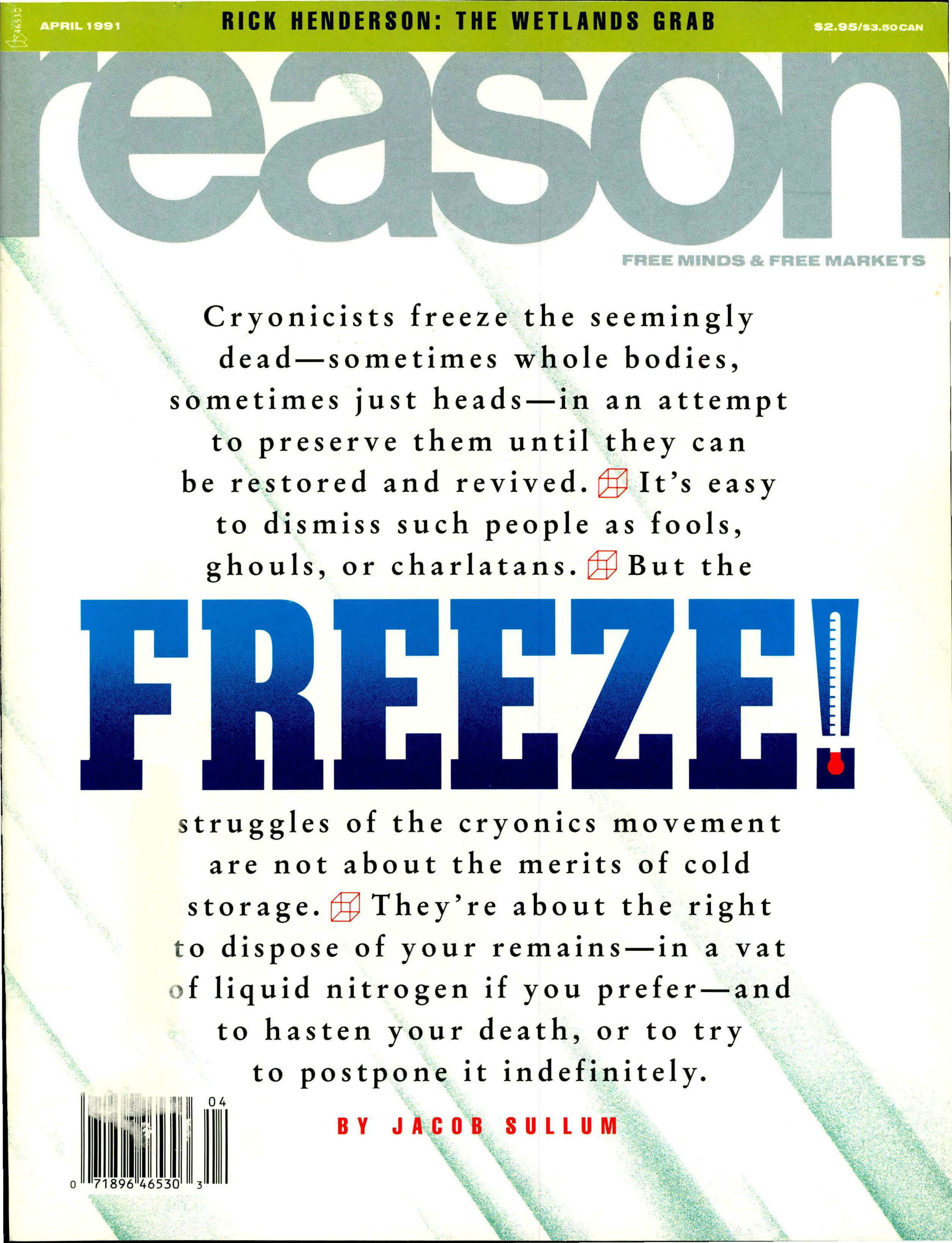 Reason Magazine, April 1991 cover image