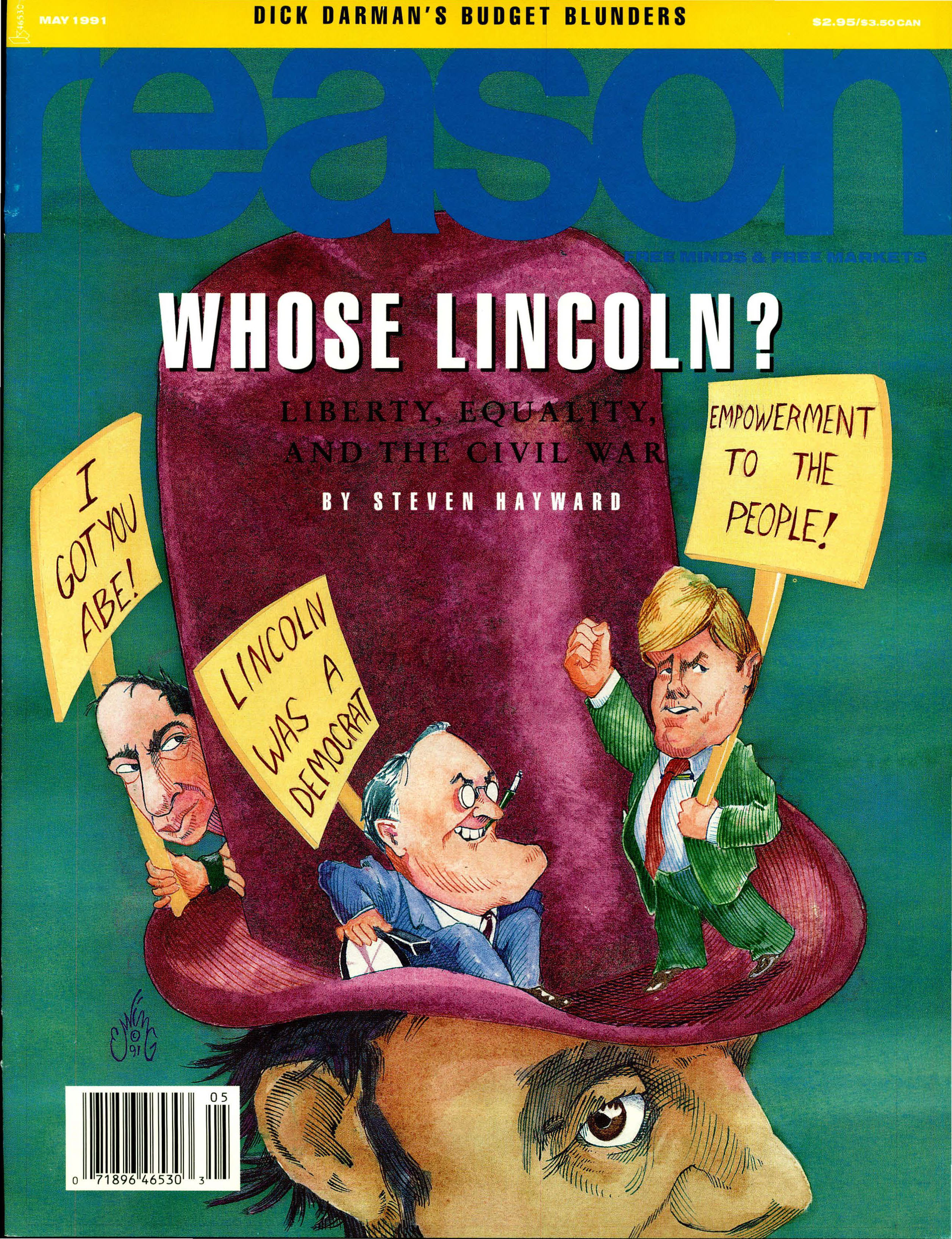 Reason Magazine, May 1991 cover image