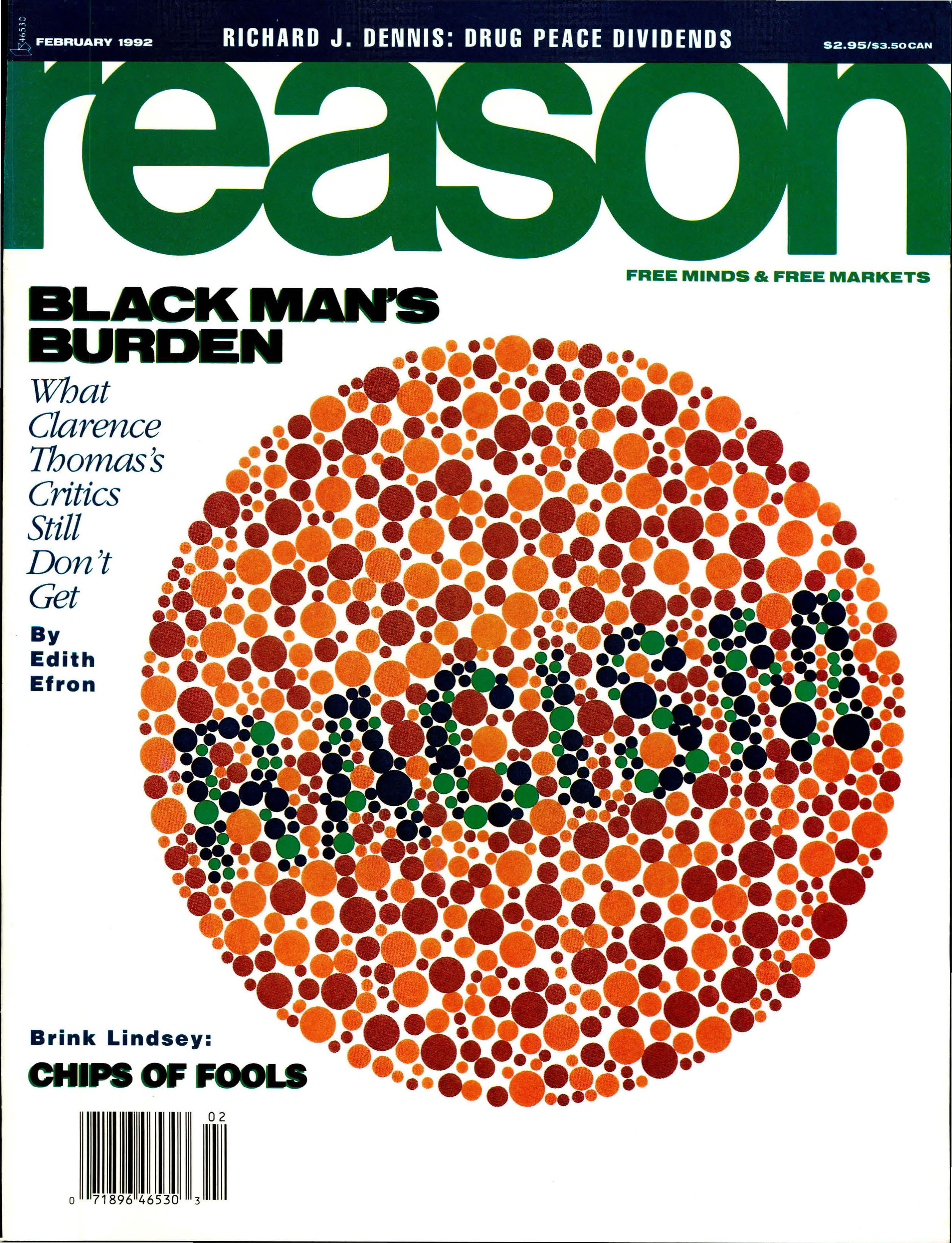 Reason Magazine, February 1992 cover image