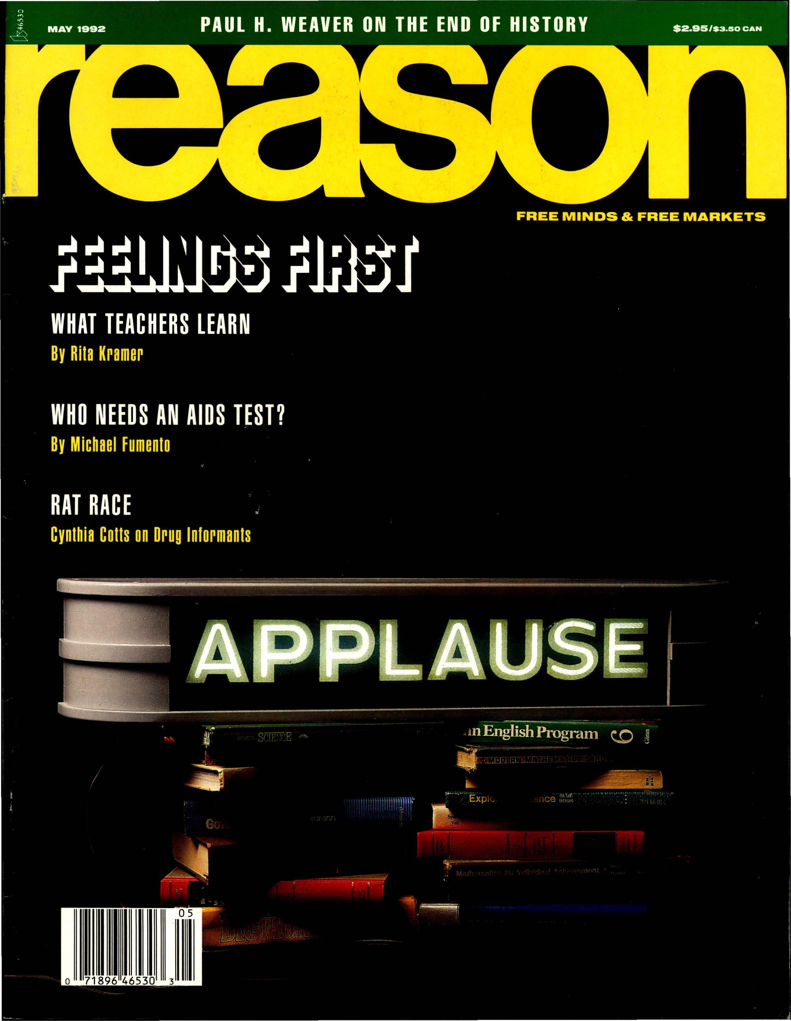 Reason Magazine, May 1992 cover image