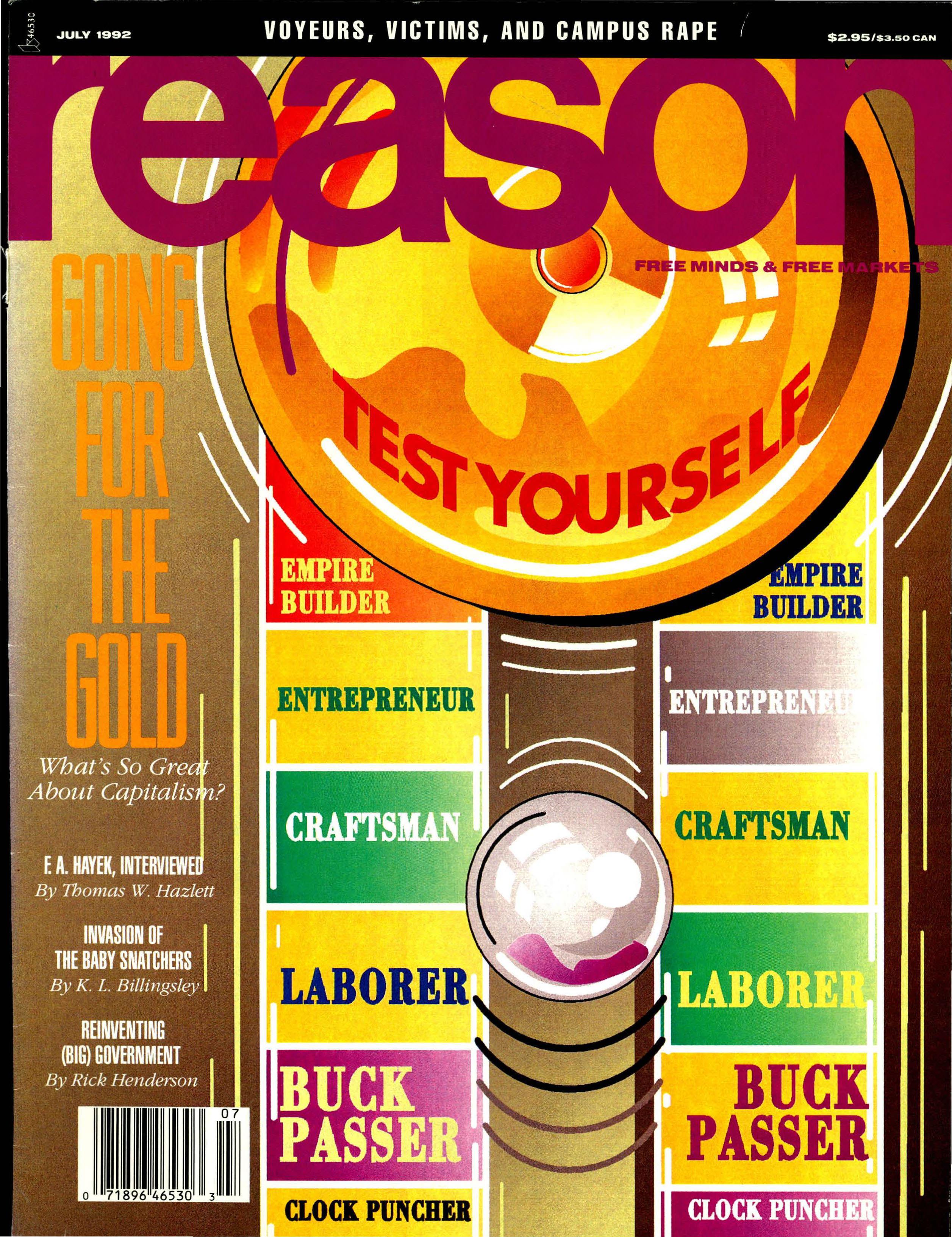 Reason Magazine, July 1992 cover image