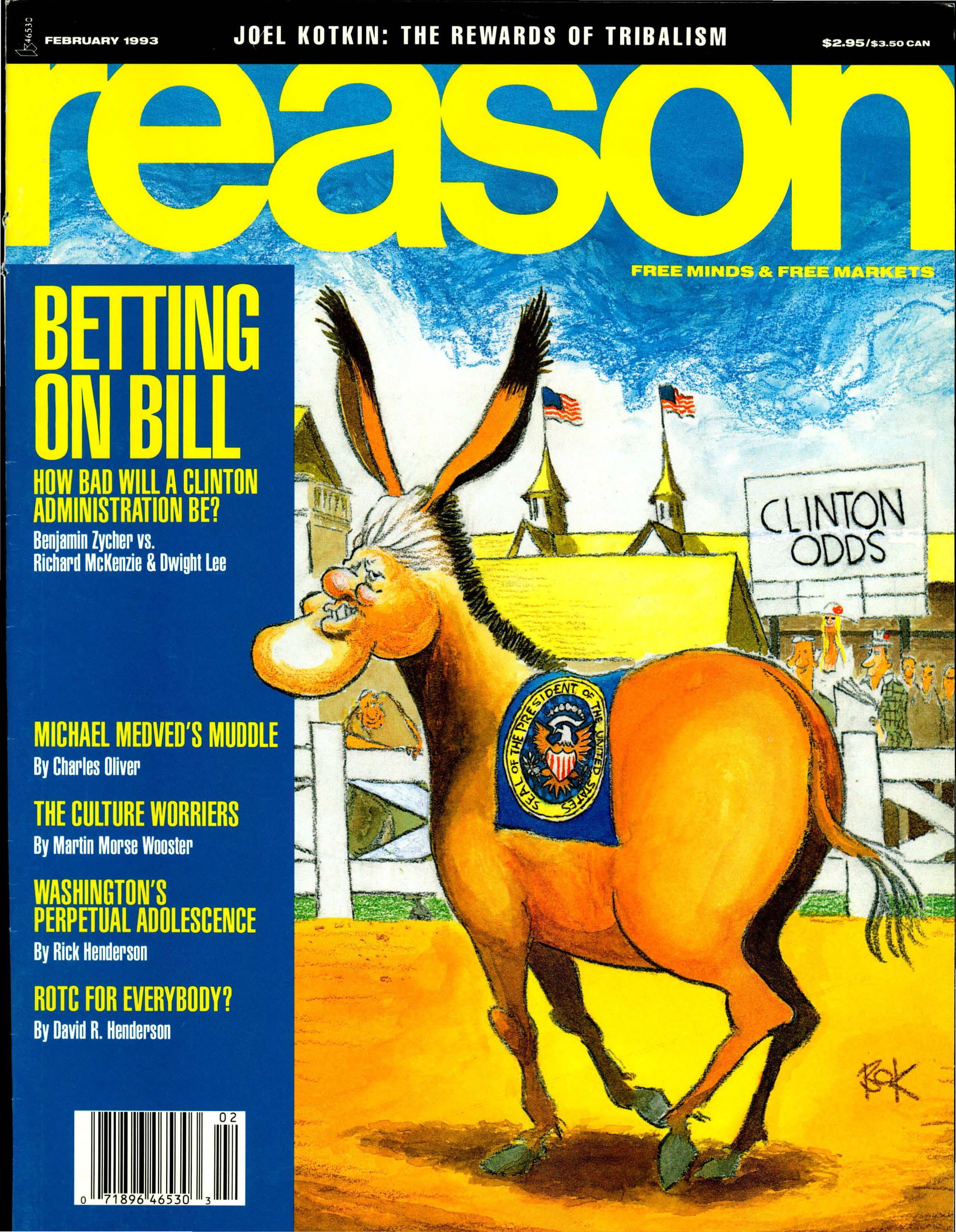 Reason Magazine, February 1993 cover image