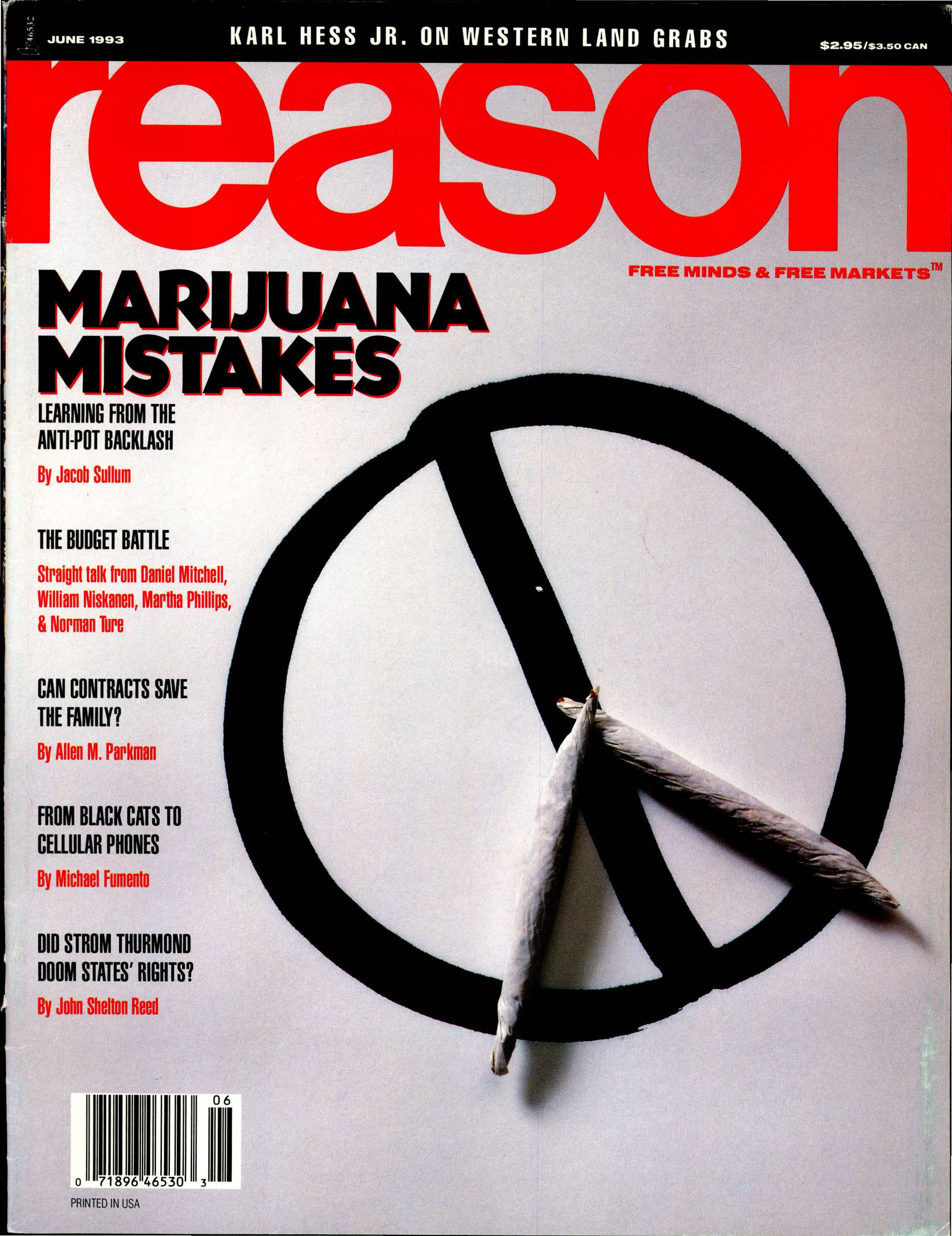 Reason Magazine, June 1993 cover image