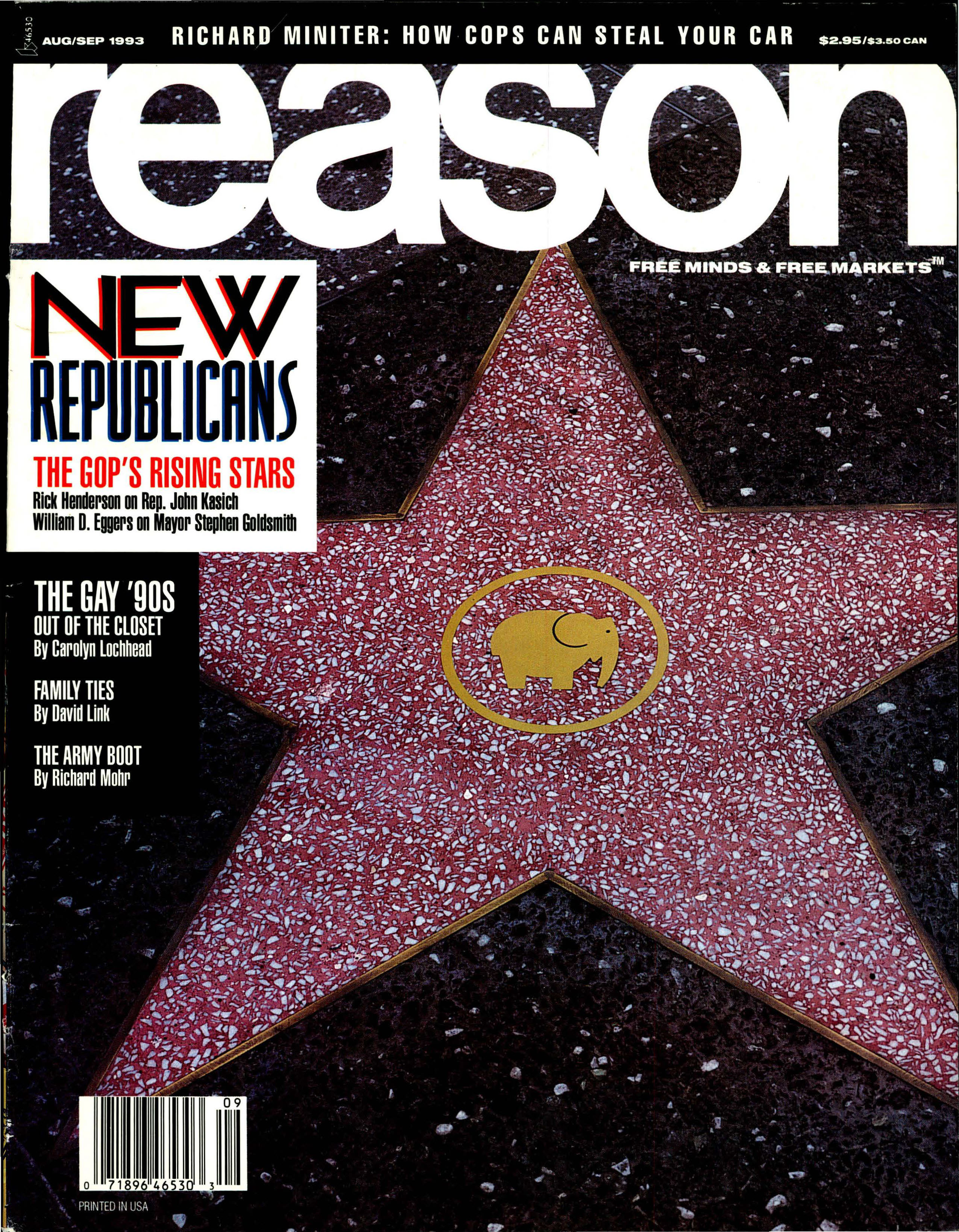 Reason Magazine, August/September 1993 cover image