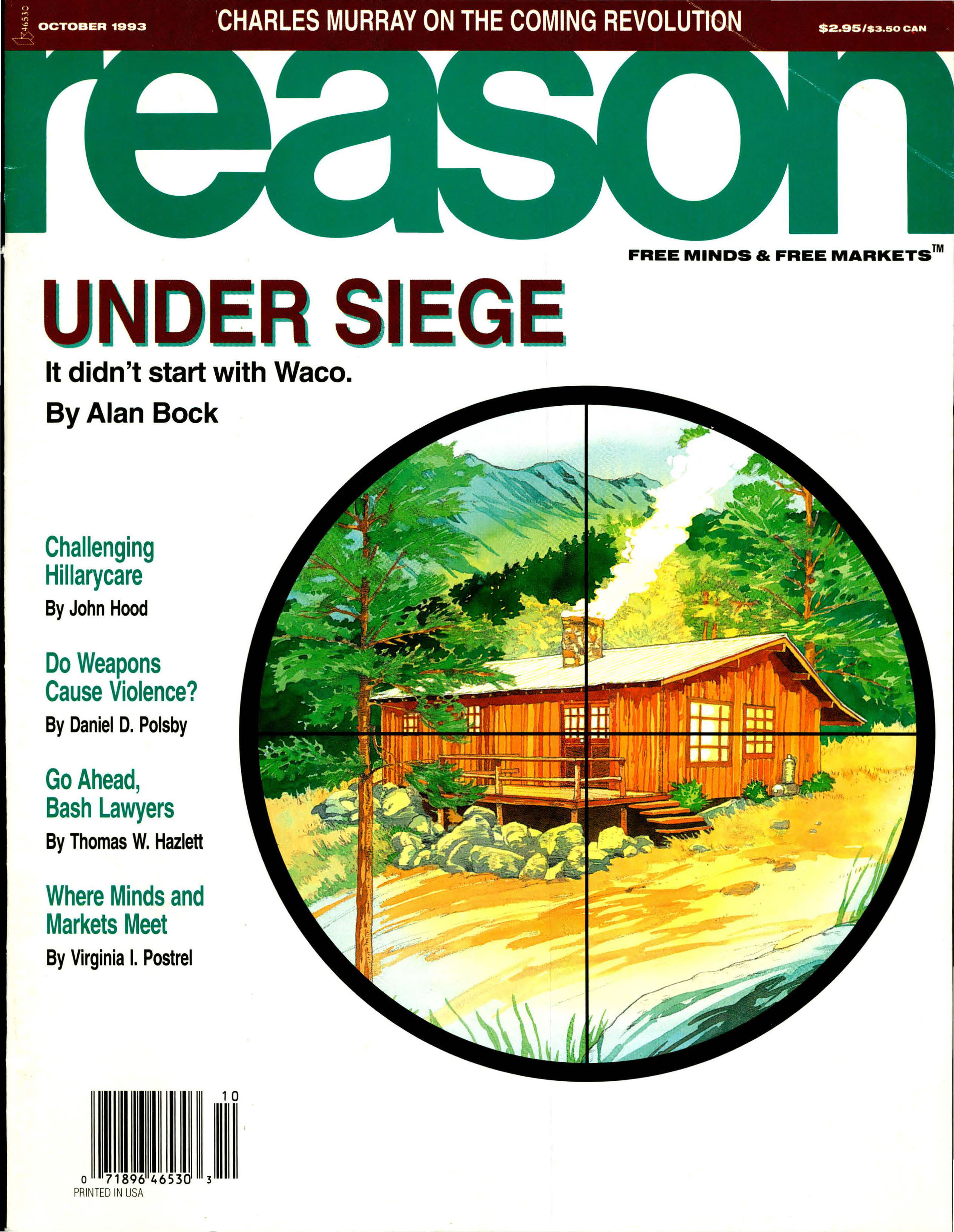Reason Magazine, October 1993 cover image