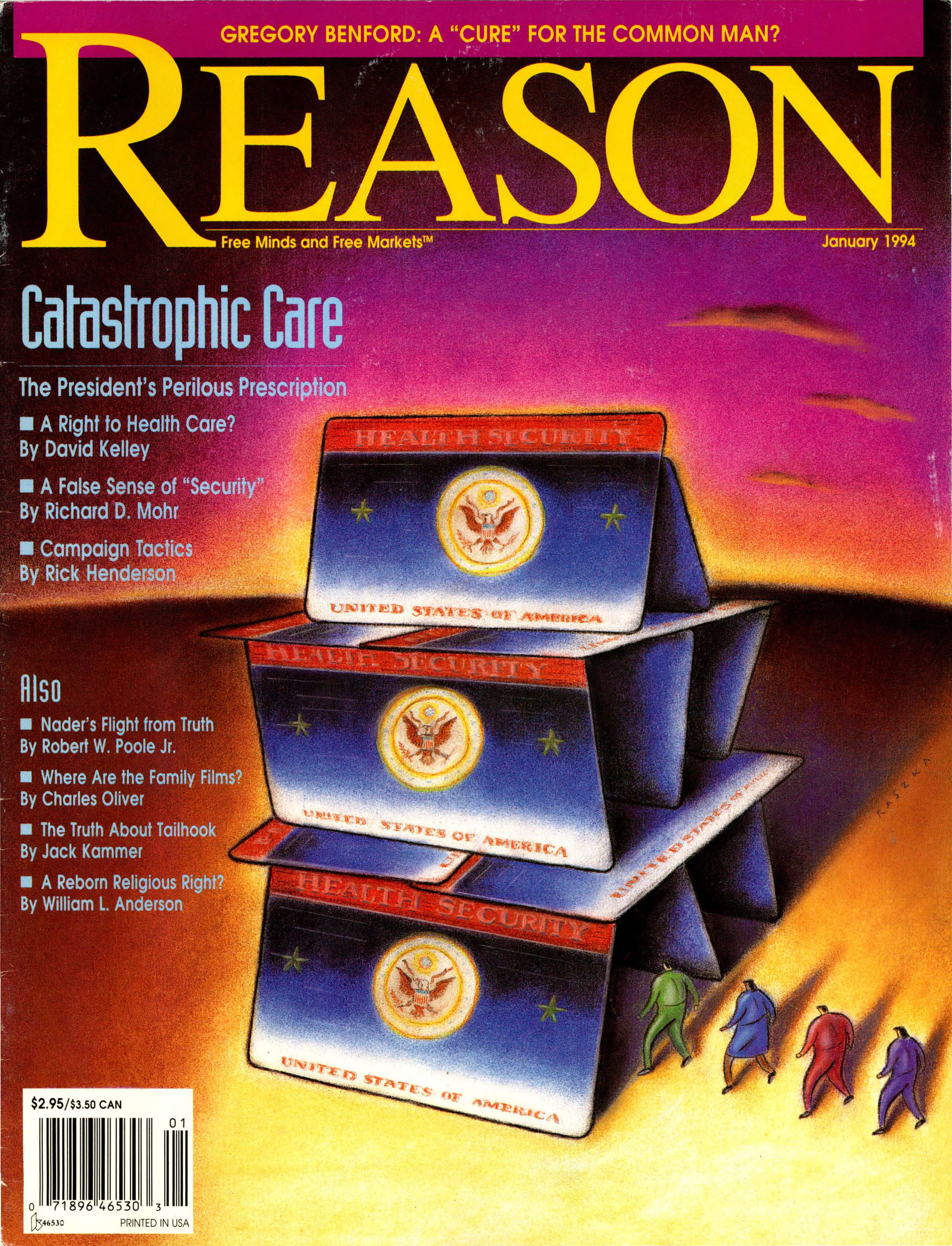 Reason Magazine, January 1994 cover image