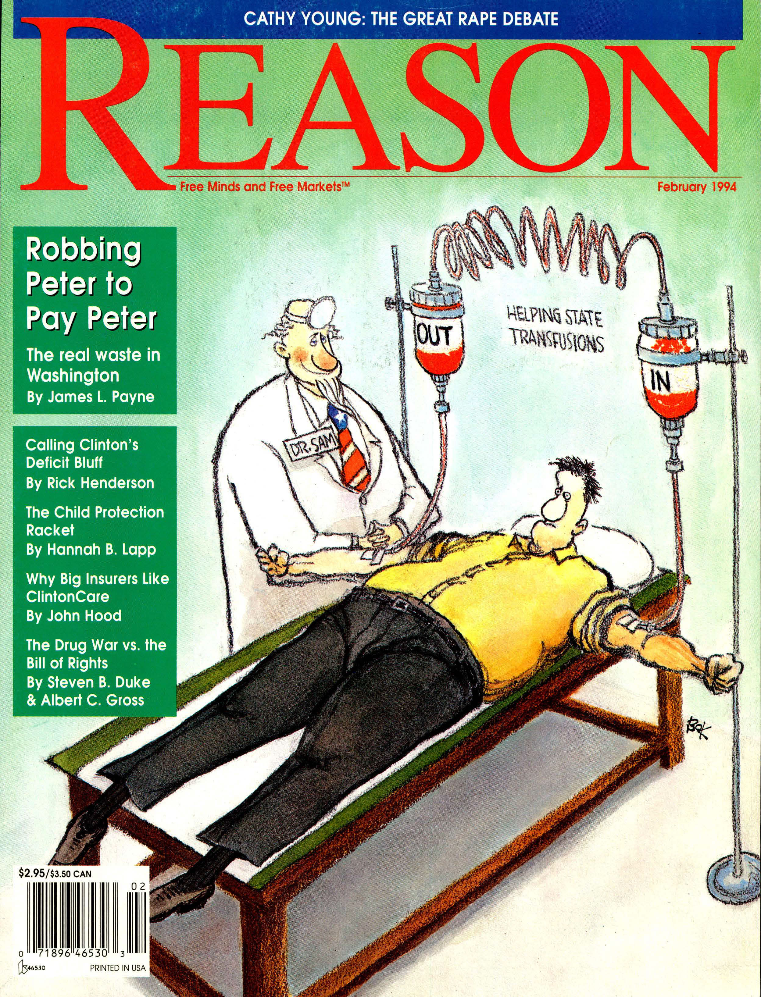 Reason Magazine, February 1994 cover image