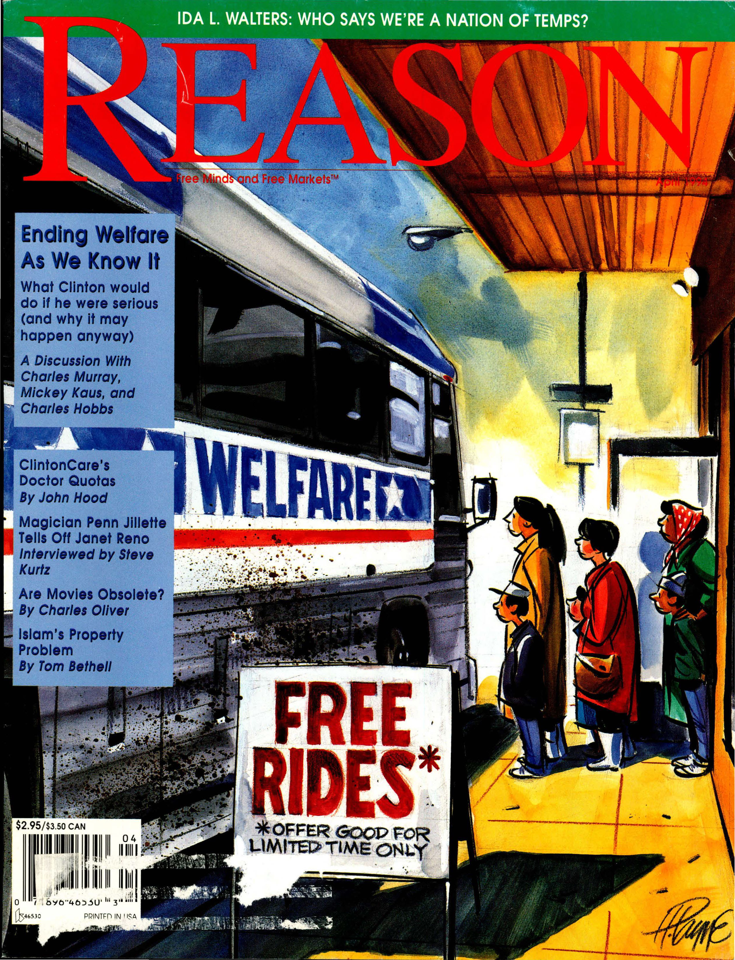 Reason Magazine, April 1994 cover image