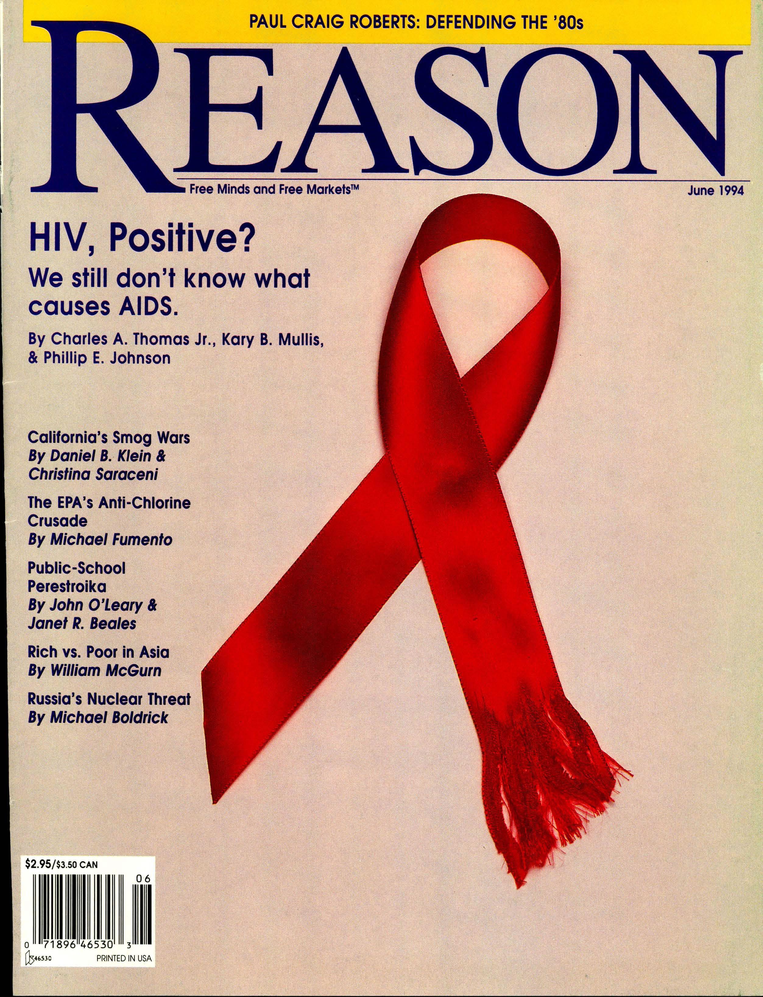Reason Magazine, June 1994 cover image