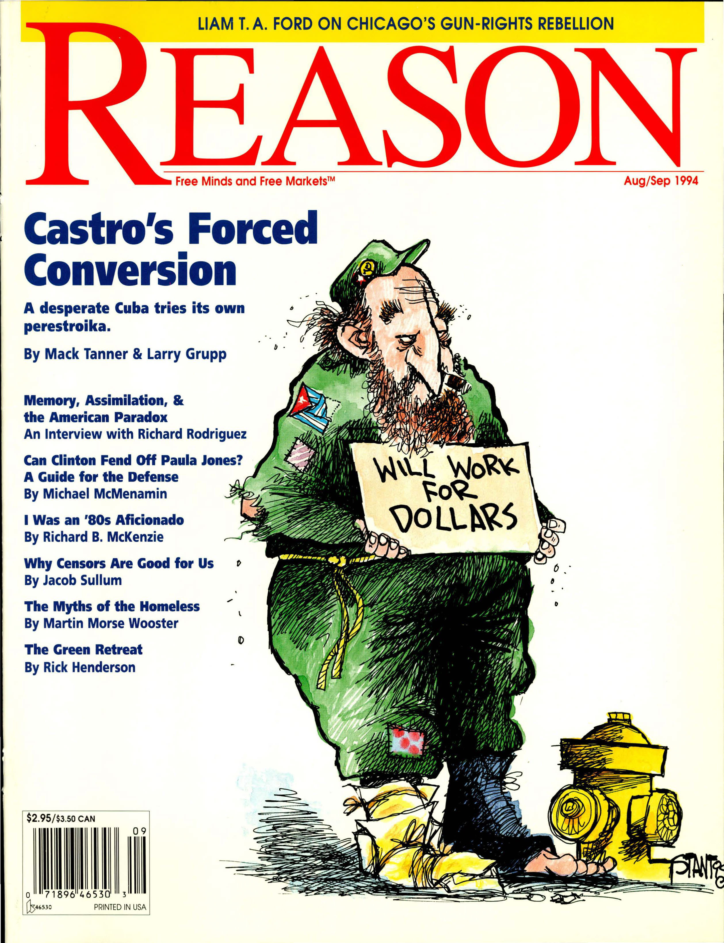 Reason Magazine, August/September 1994 cover image