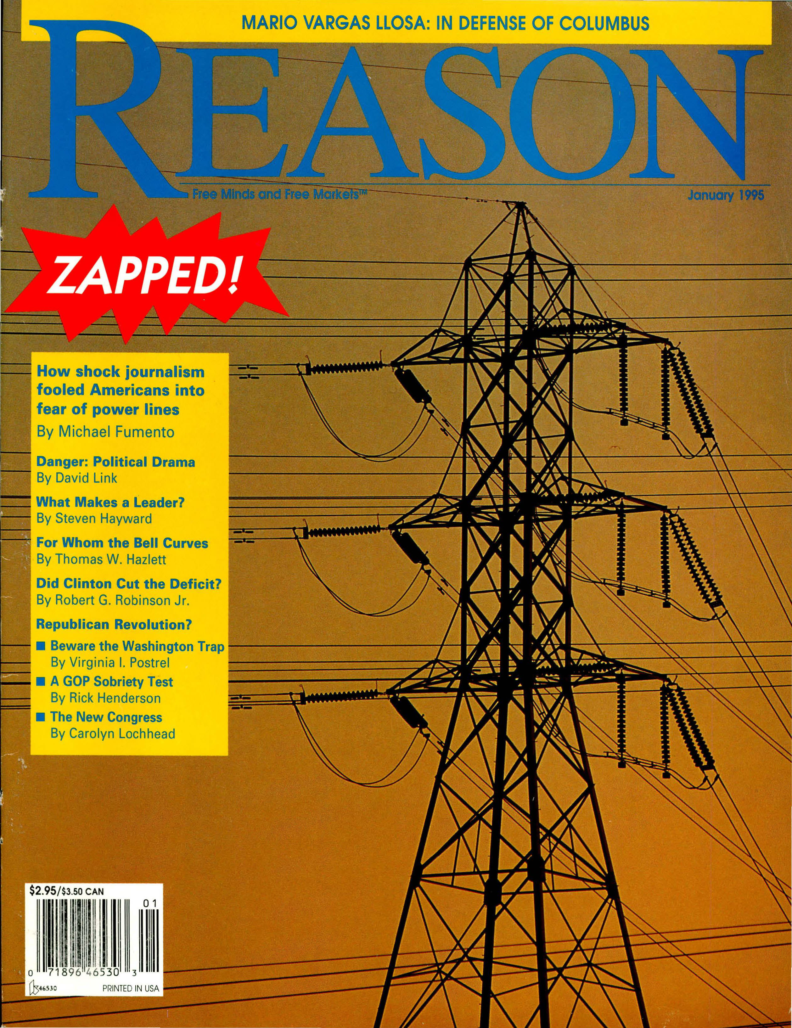 Reason Magazine, January 1995 cover image