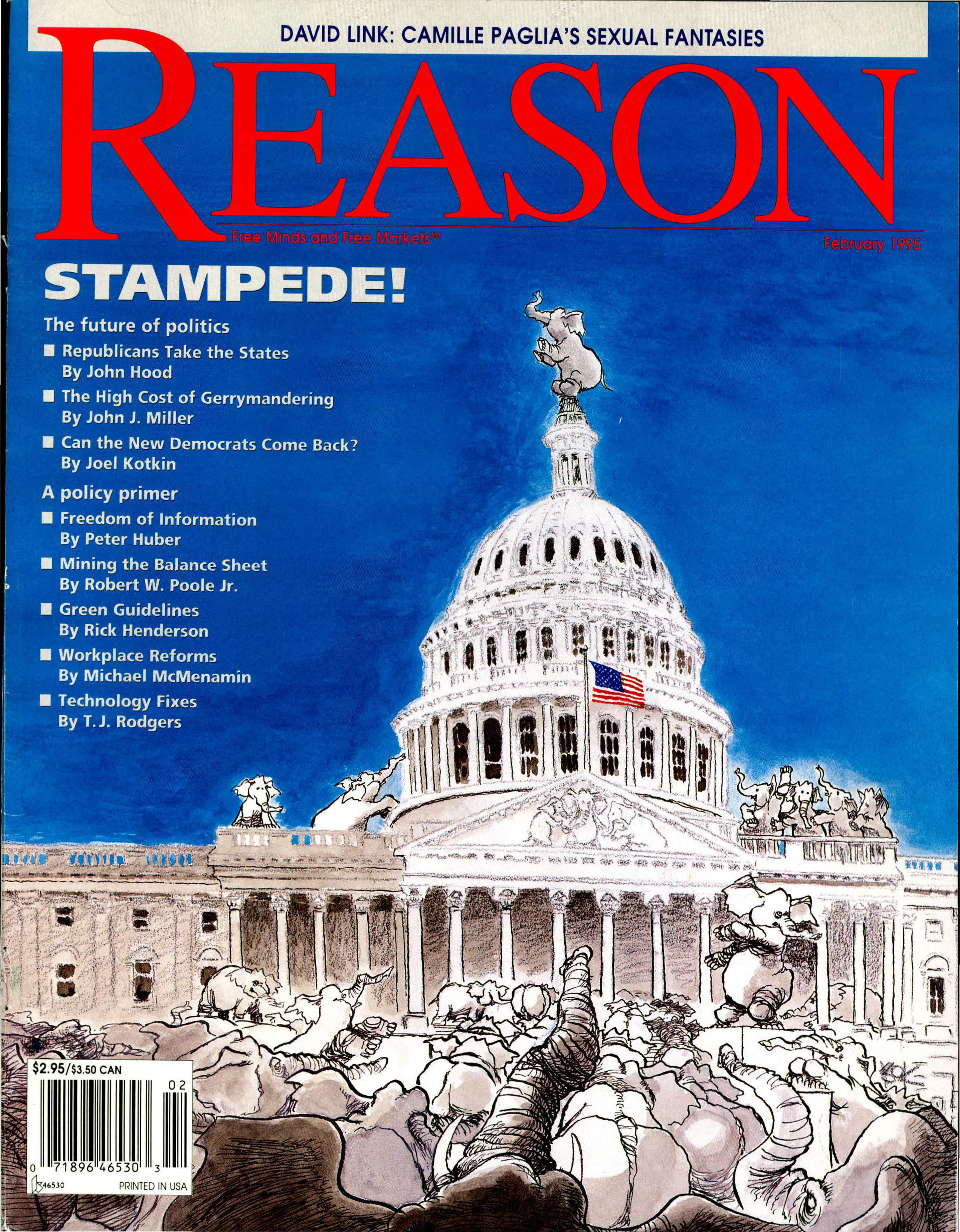 Reason Magazine, February 1995 cover image
