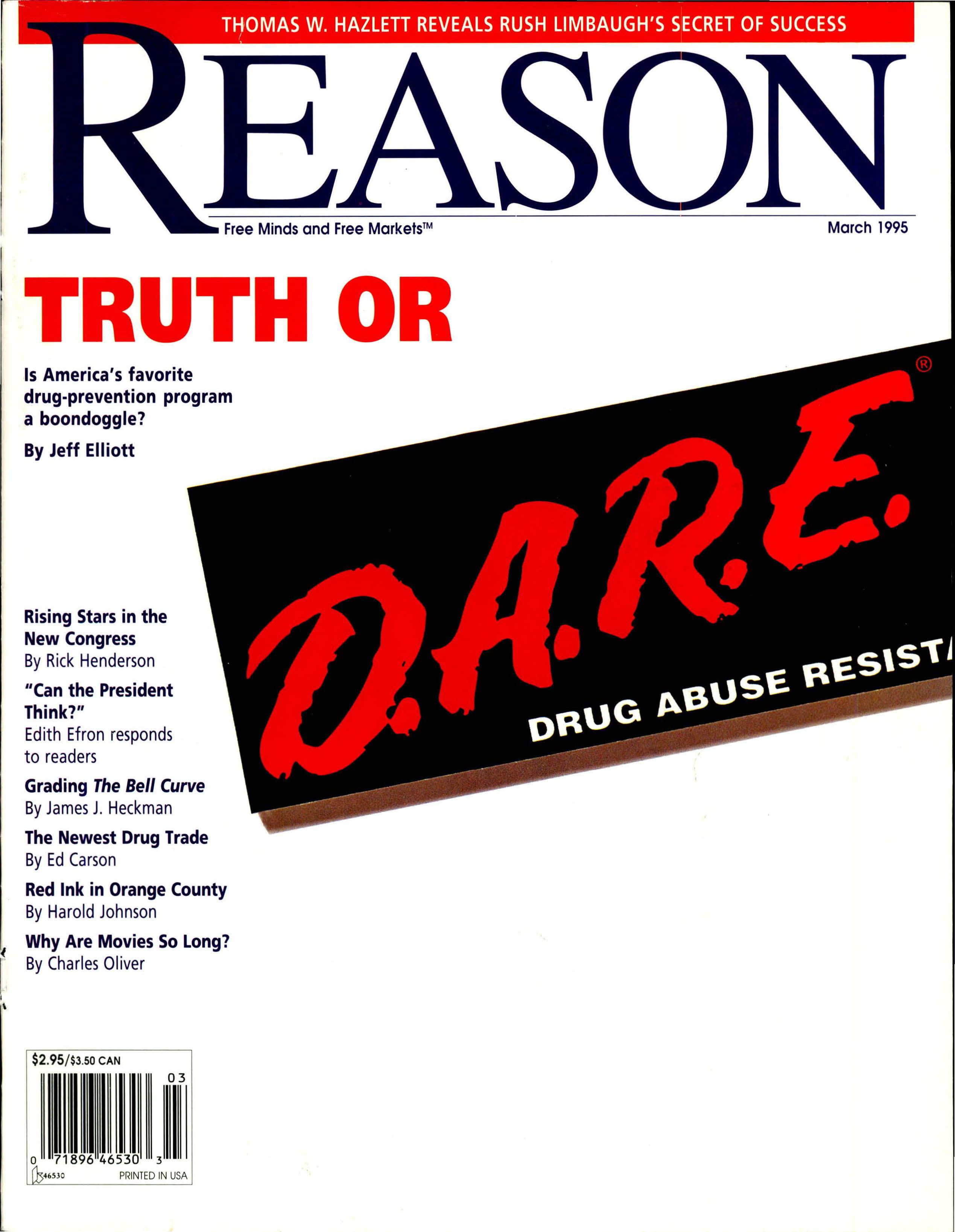 Reason Magazine, March 1995 cover image