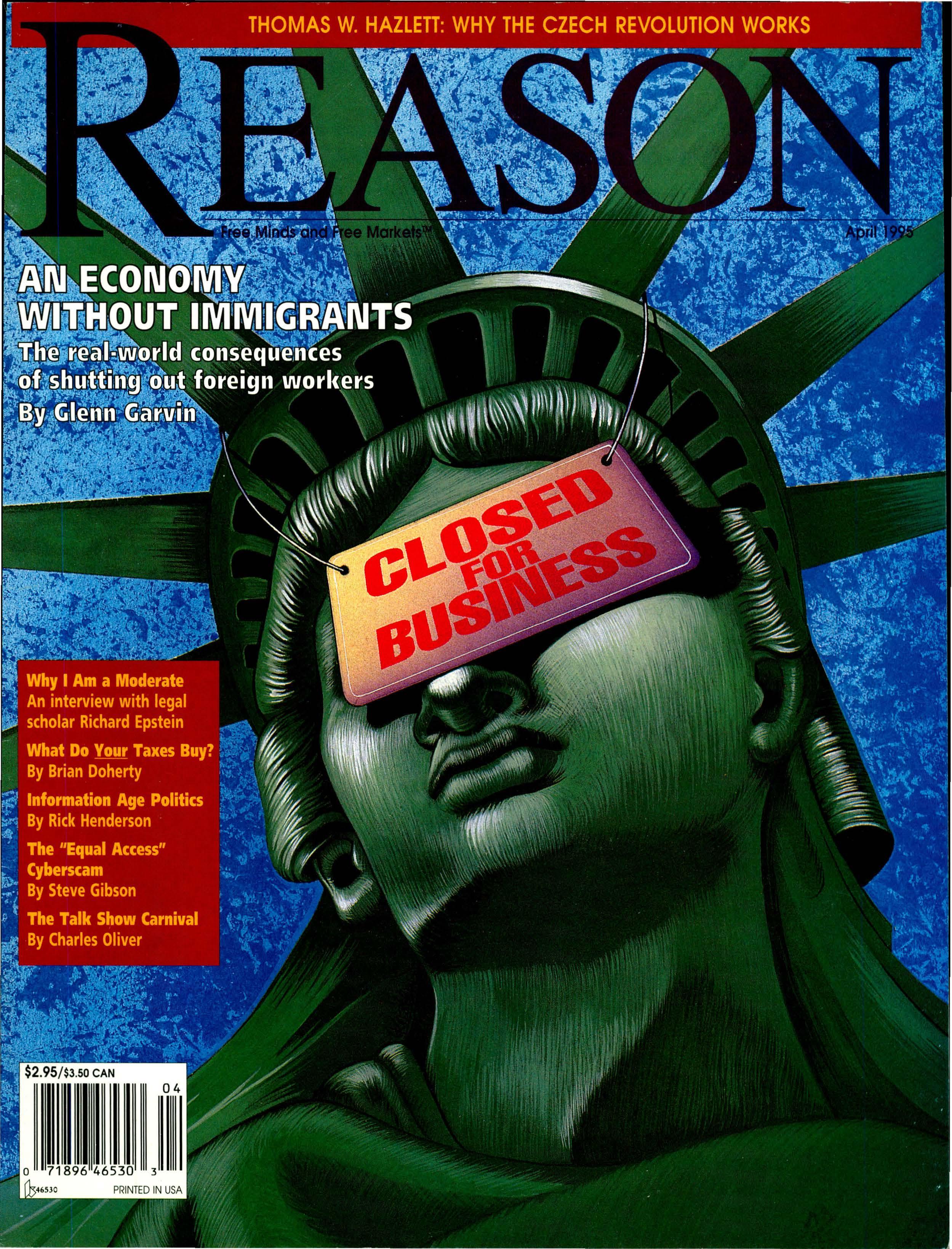 Reason Magazine, April 1995 cover image