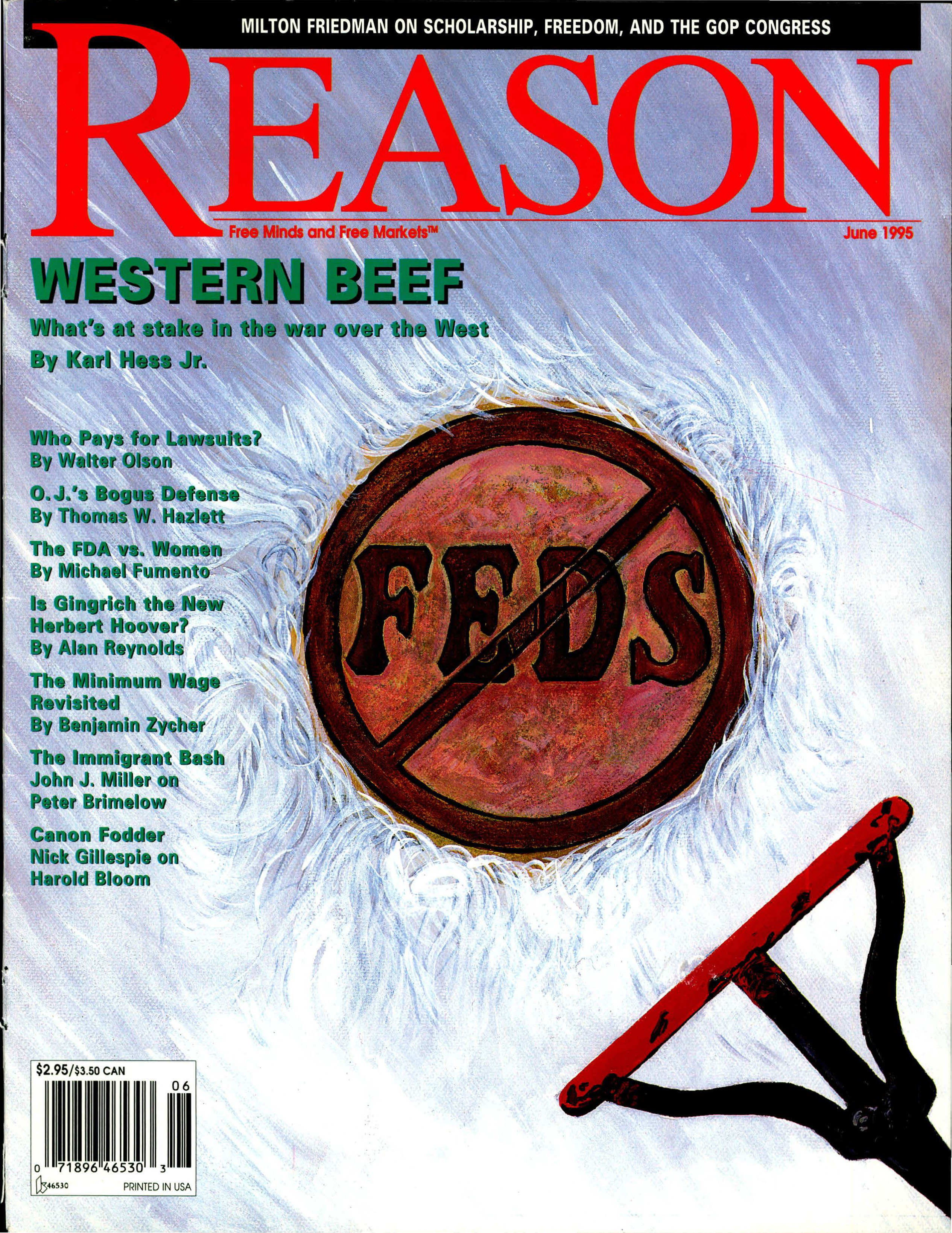 Reason Magazine, June 1995 cover image