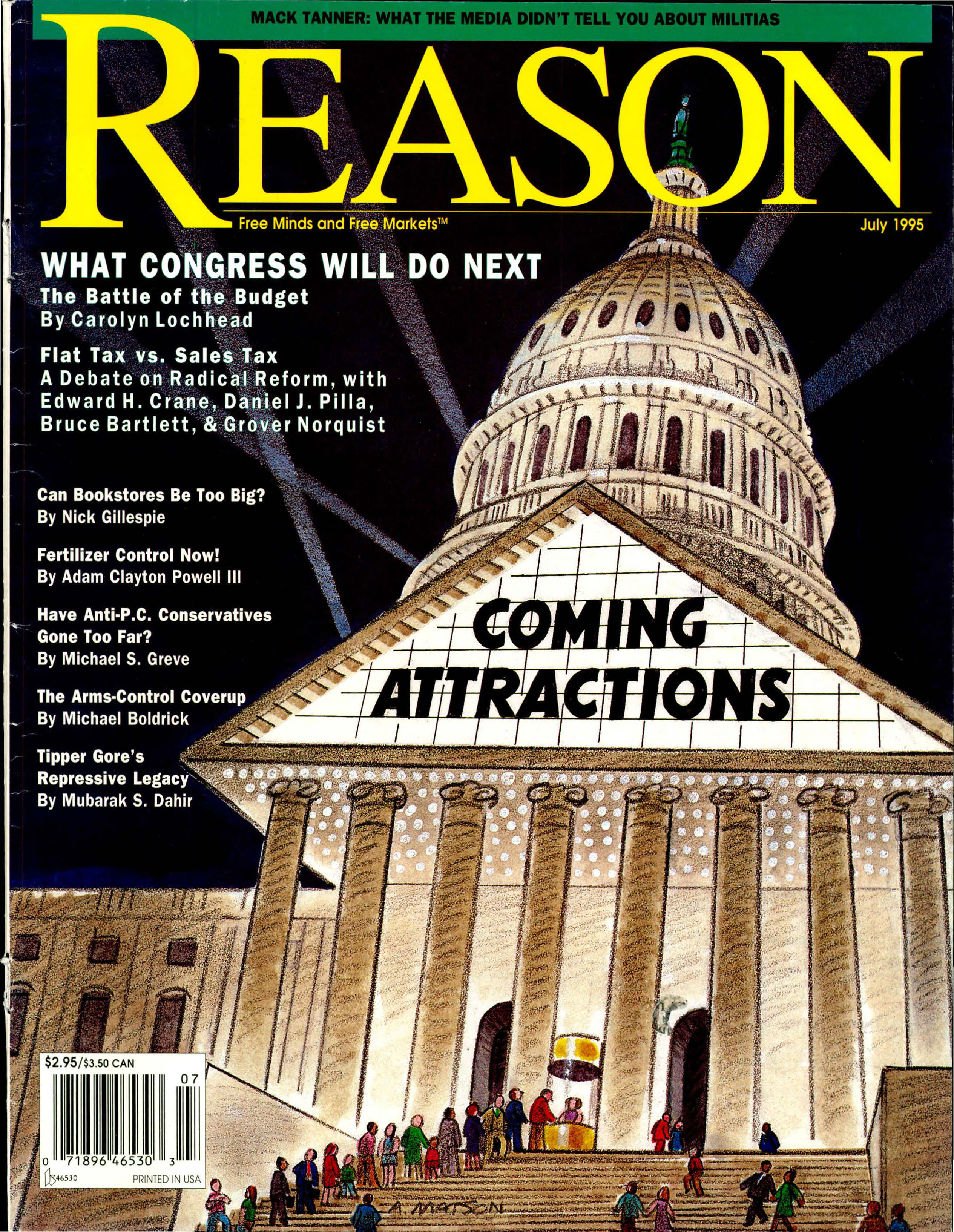 Reason Magazine, July 1995 cover image